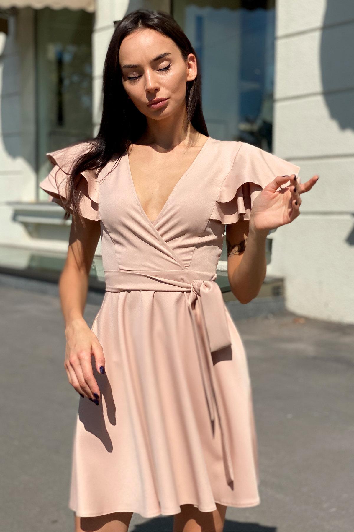 Платье Милея 9649 АРТ. 45969 Цвет: Бежевый - фото 8, интернет магазин tm-modus.ru