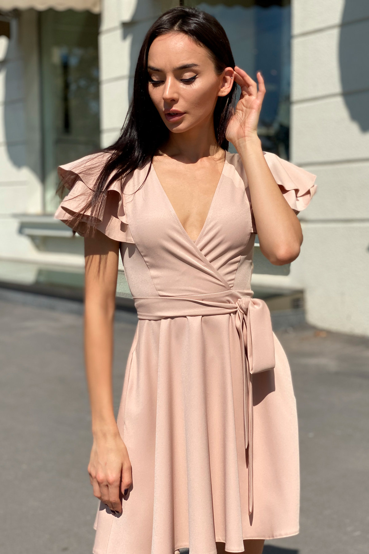 Платье Милея 9649 АРТ. 45969 Цвет: Бежевый - фото 9, интернет магазин tm-modus.ru