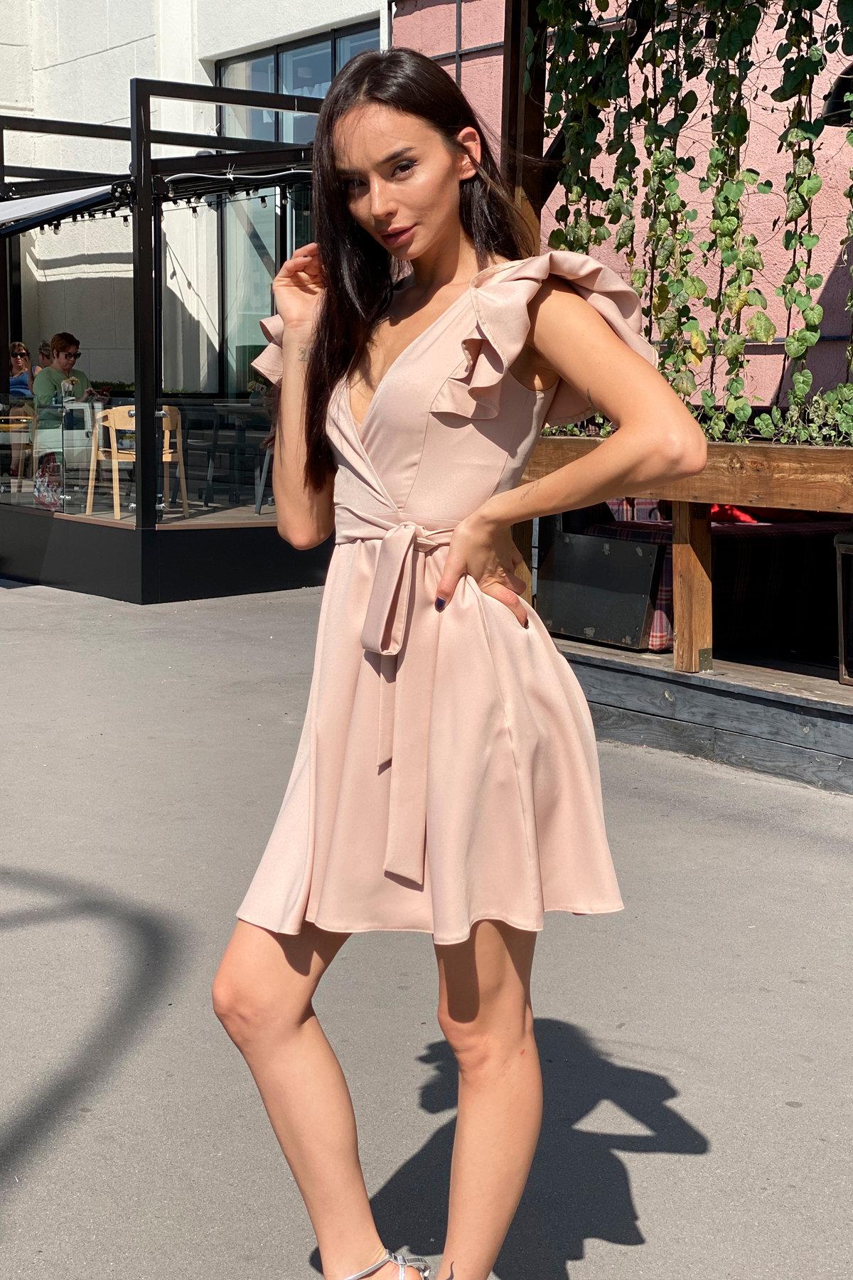 Платье Милея 9649 АРТ. 45969 Цвет: Бежевый - фото 11, интернет магазин tm-modus.ru