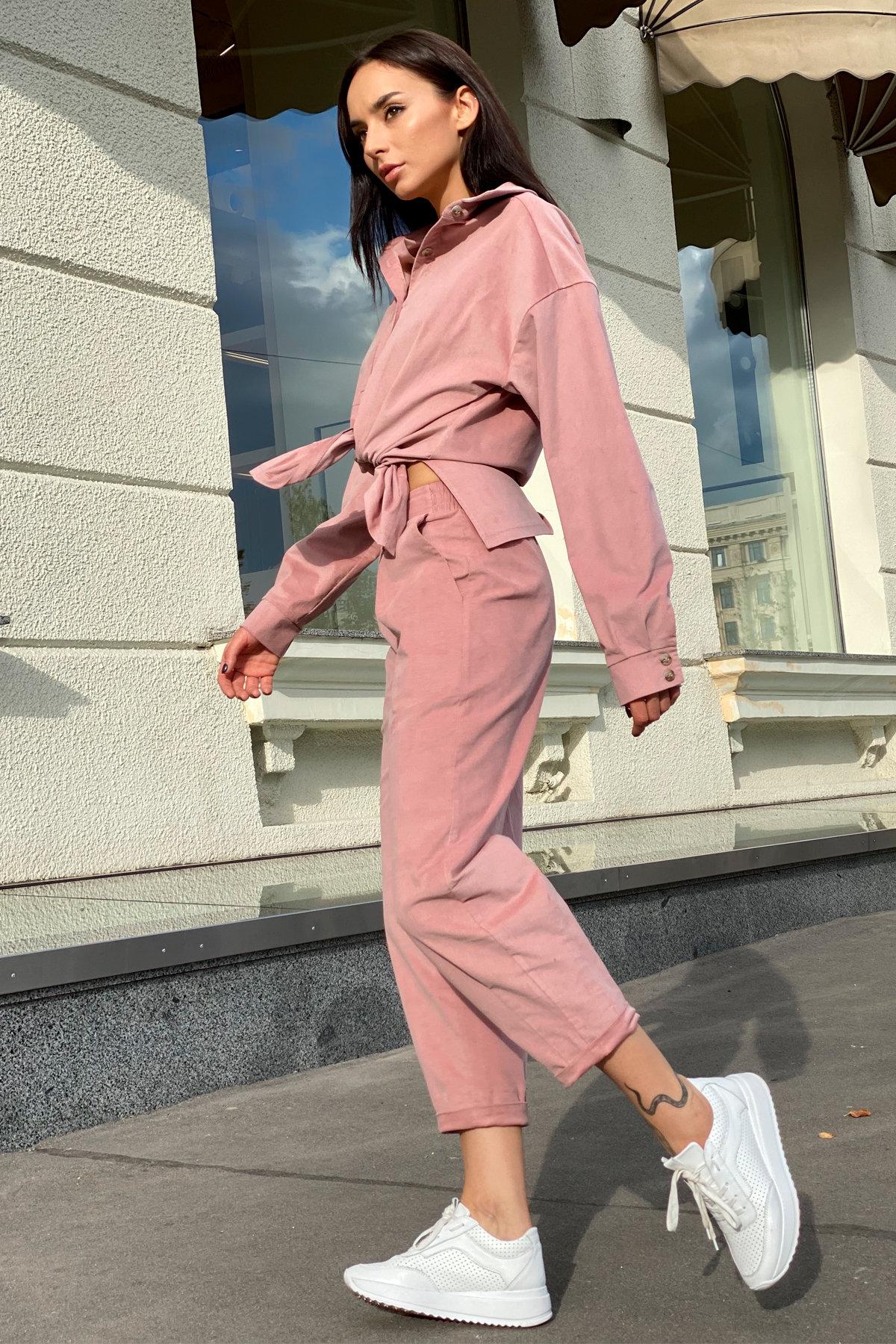 Браво микровельвет костюм 9695 АРТ. 46000 Цвет: Пудра - фото 3, интернет магазин tm-modus.ru