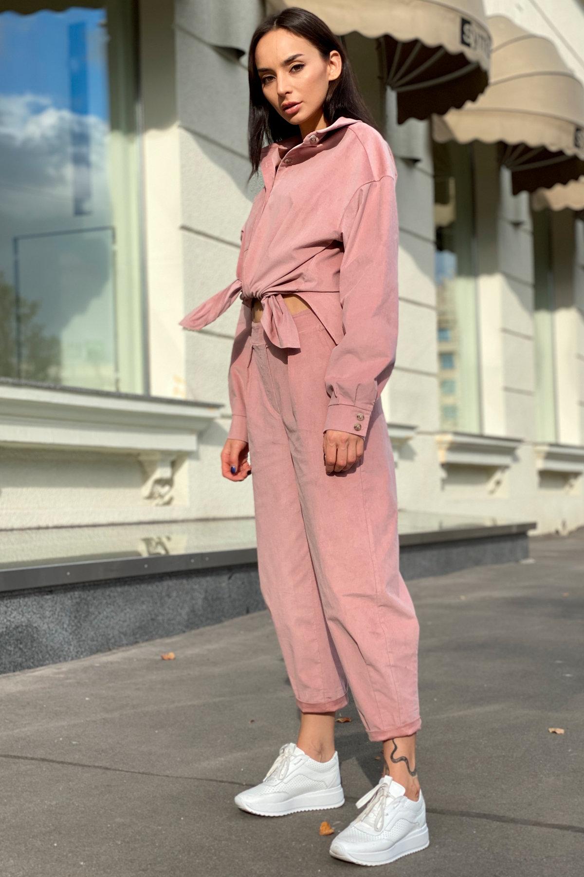 Браво микровельвет костюм 9695 АРТ. 46000 Цвет: Пудра - фото 4, интернет магазин tm-modus.ru