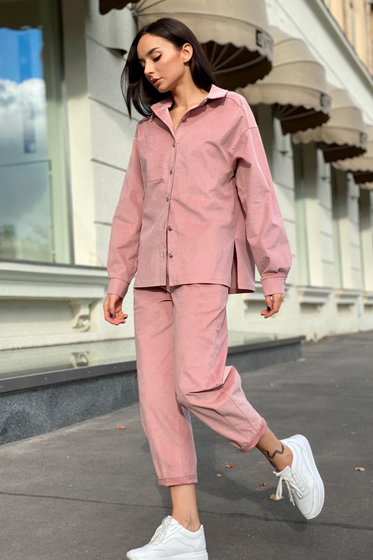 Браво микровельвет костюм 9695 АРТ. 46000 Цвет: Пудра - фото 6, интернет магазин tm-modus.ru