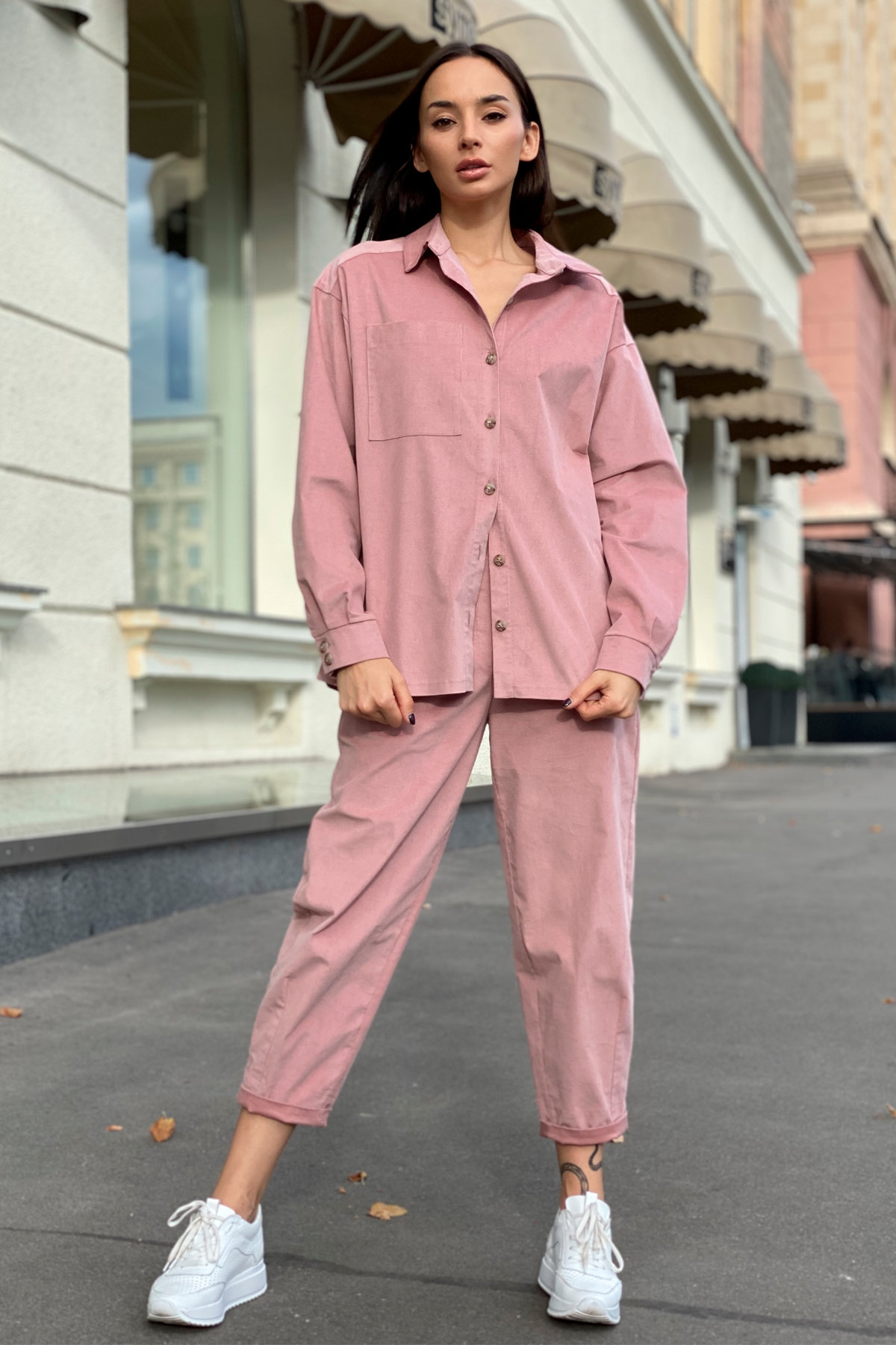 Браво микровельвет костюм 9695 АРТ. 46000 Цвет: Пудра - фото 7, интернет магазин tm-modus.ru