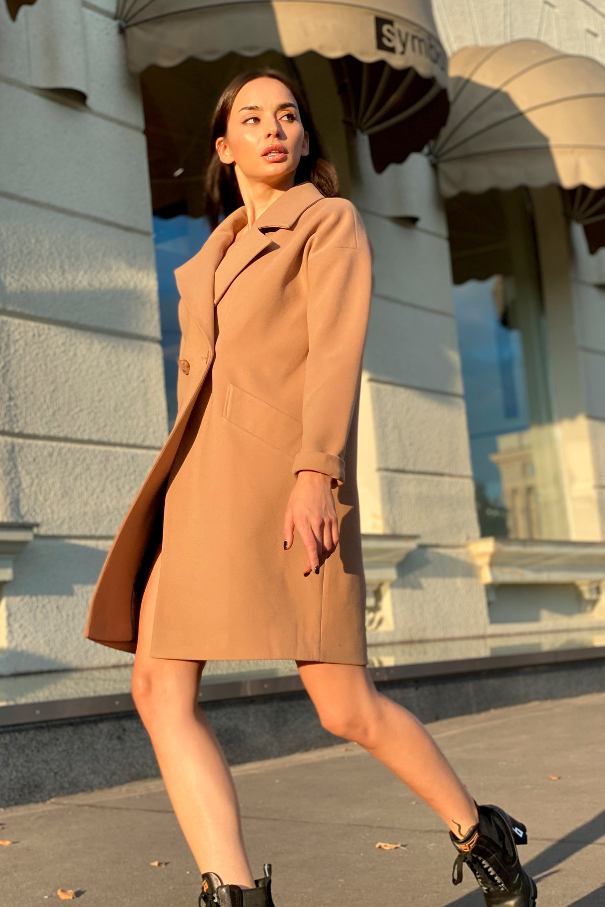 Пальто Сенсей 9006 АРТ. 45318 Цвет: Кемел - фото 5, интернет магазин tm-modus.ru