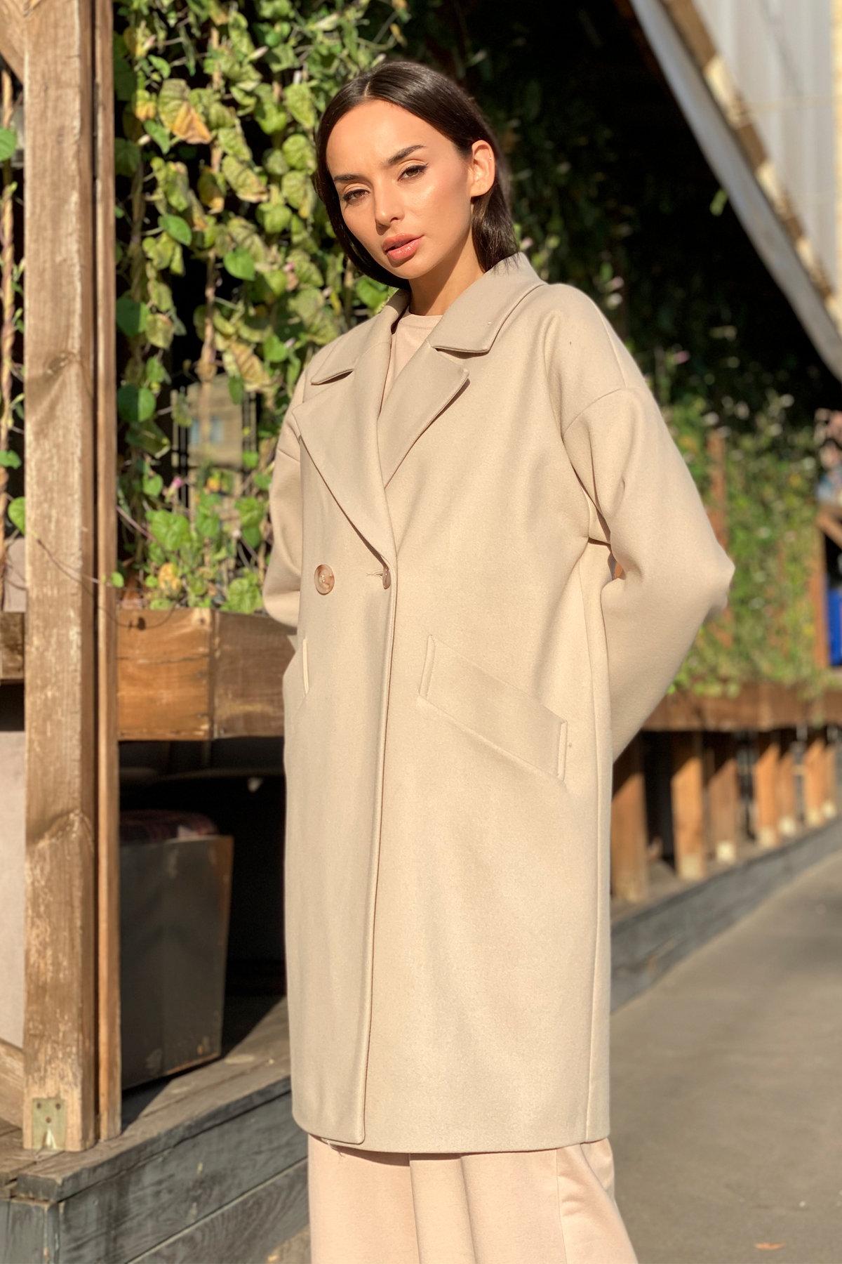 Пальто Сенсей 9006 АРТ. 45312 Цвет: Бежевый - фото 4, интернет магазин tm-modus.ru