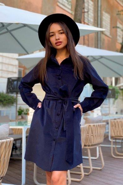 Омса микровельвет платье-рубашка 9687