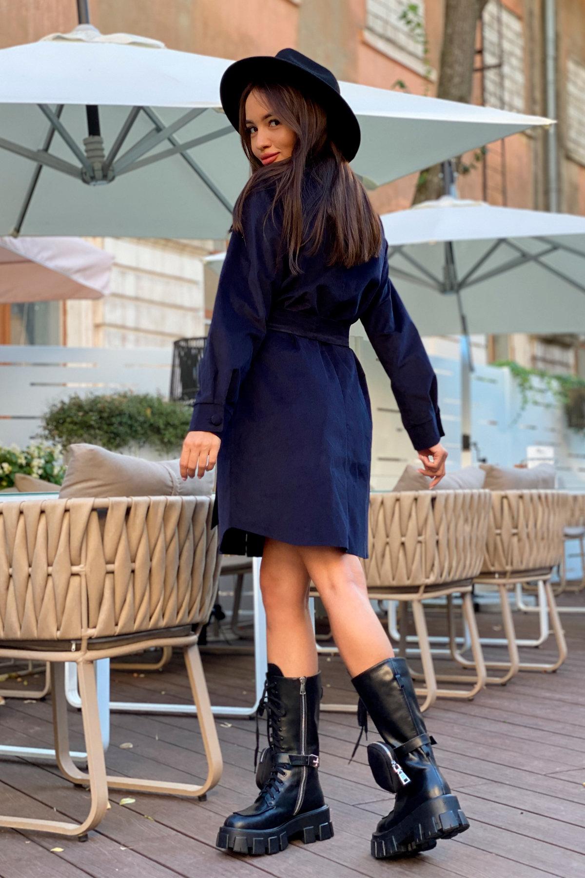 Платье-рубашка Омса 9687 АРТ. 45996 Цвет: т. синий - фото 4, интернет магазин tm-modus.ru