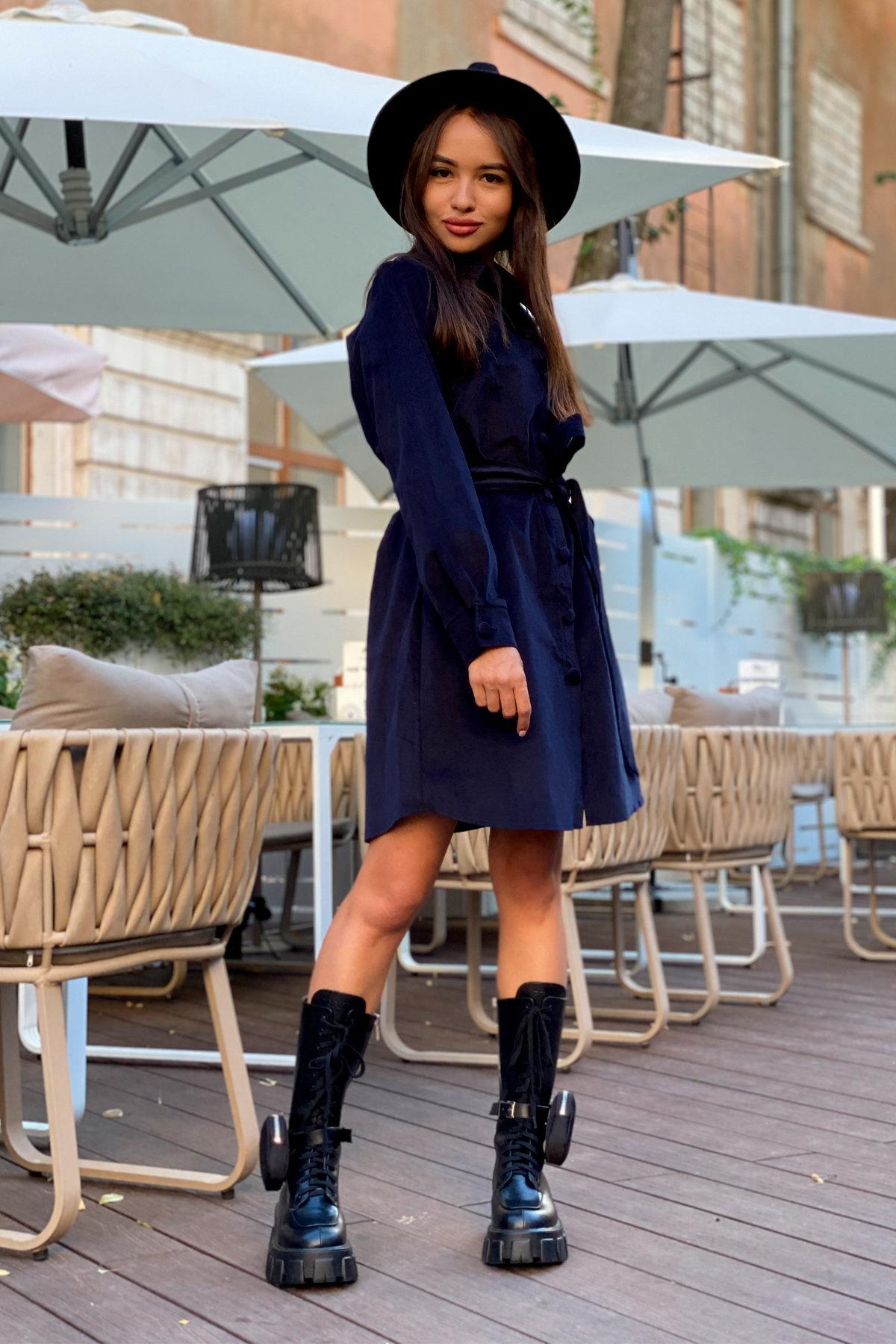 Платье-рубашка Омса 9687 АРТ. 45996 Цвет: т. синий - фото 5, интернет магазин tm-modus.ru