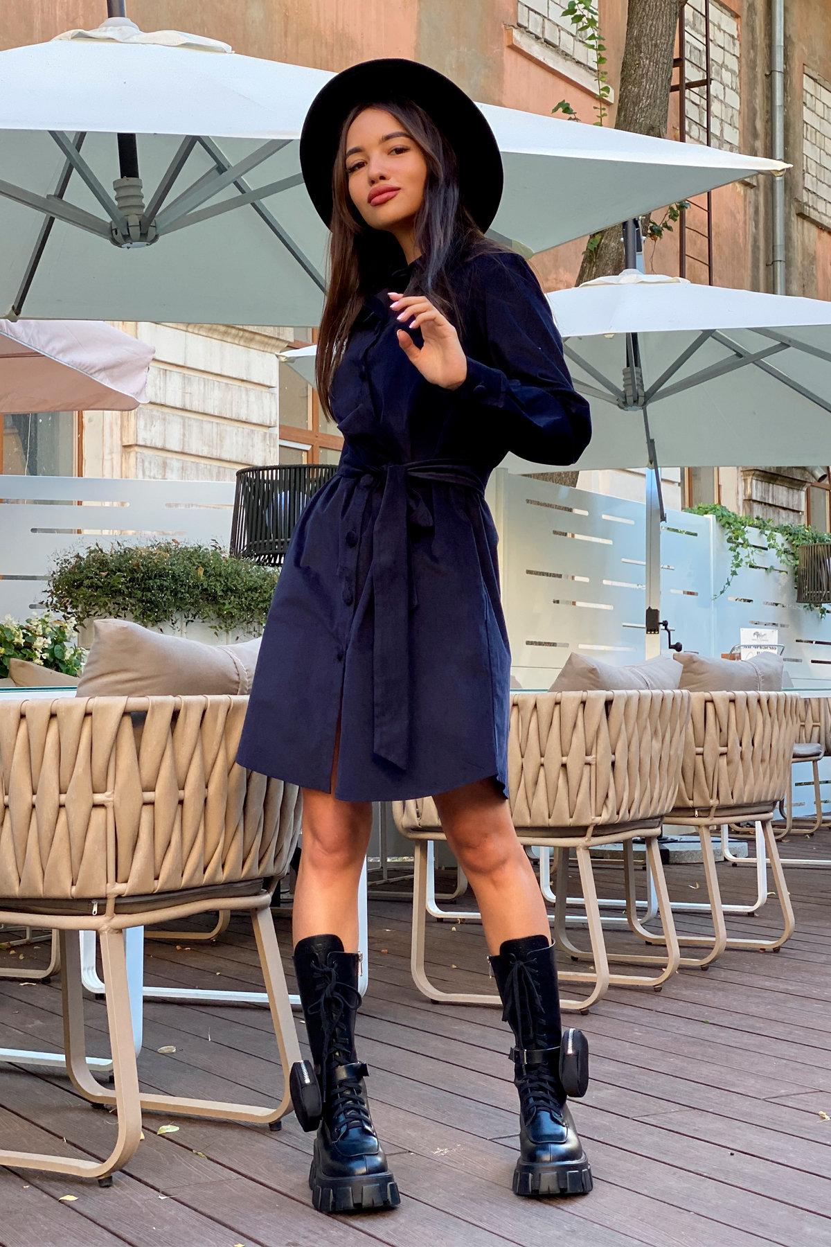 Платье-рубашка Омса 9687 АРТ. 45996 Цвет: т. синий - фото 6, интернет магазин tm-modus.ru