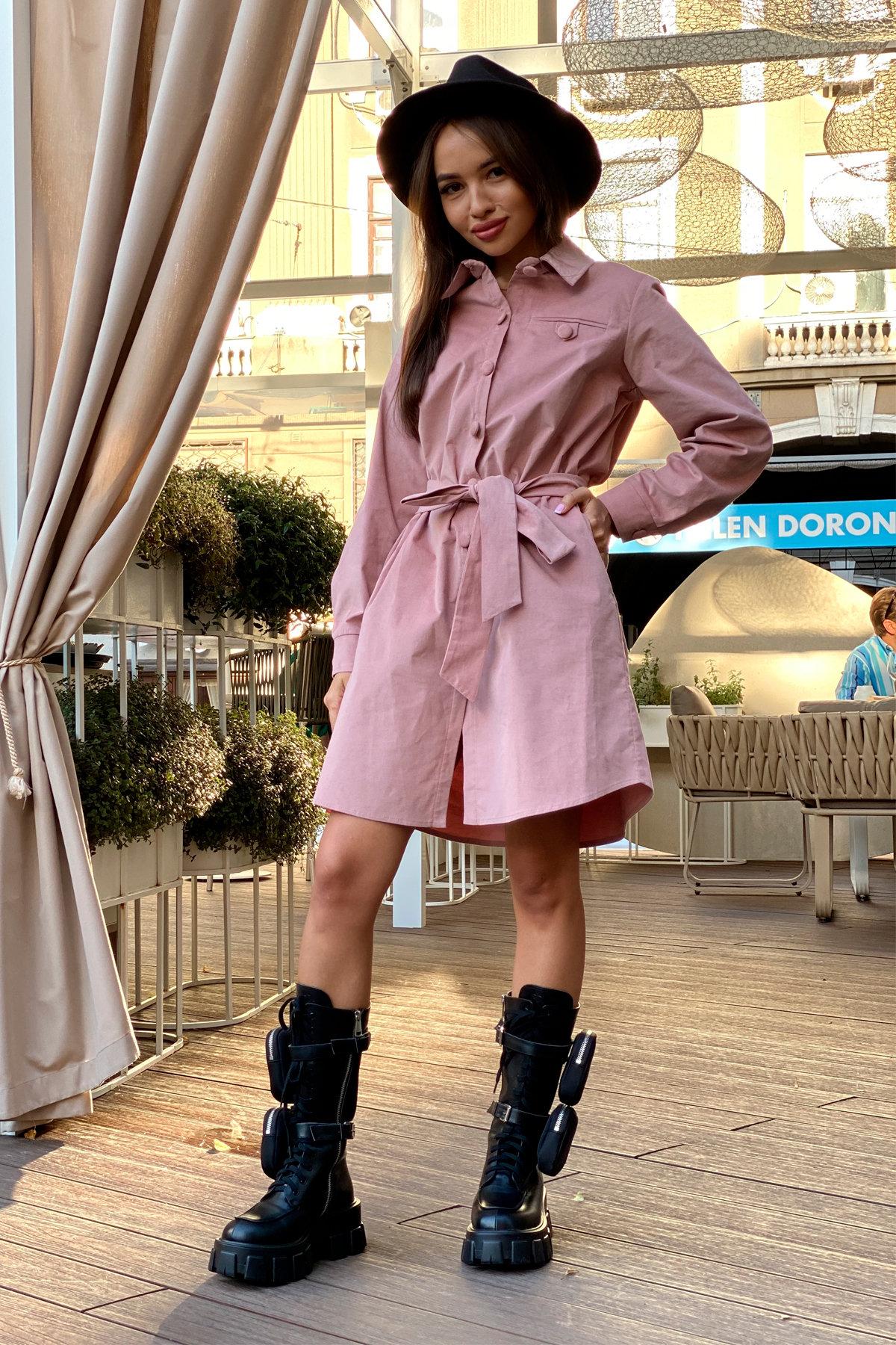 Платье-рубашка Омса 9687 АРТ. 45997 Цвет: Пудра - фото 1, интернет магазин tm-modus.ru