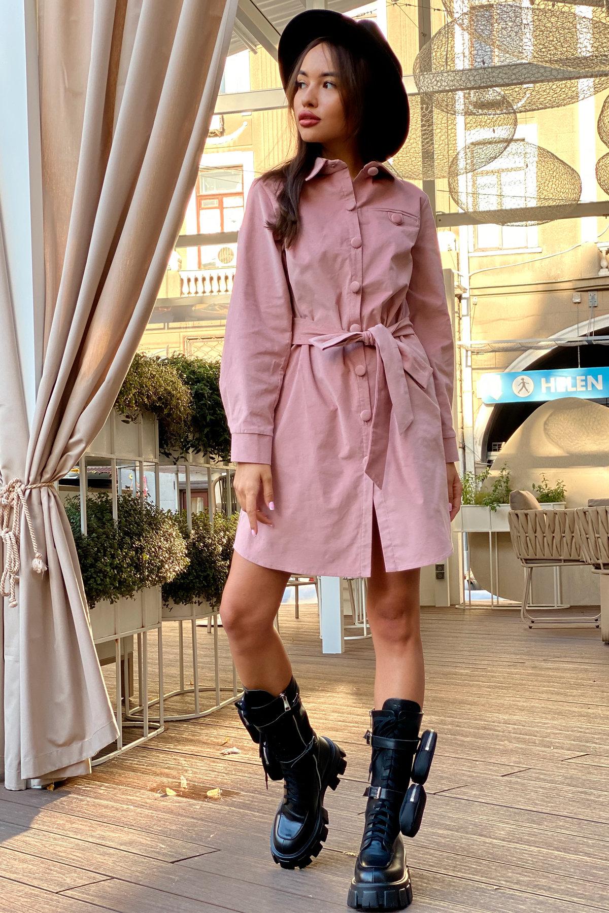 Платье-рубашка Омса 9687 АРТ. 45997 Цвет: Пудра - фото 6, интернет магазин tm-modus.ru