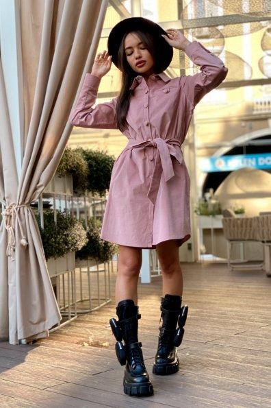 Купить Омса микровельвет платье-рубашка 9687 оптом и в розницу