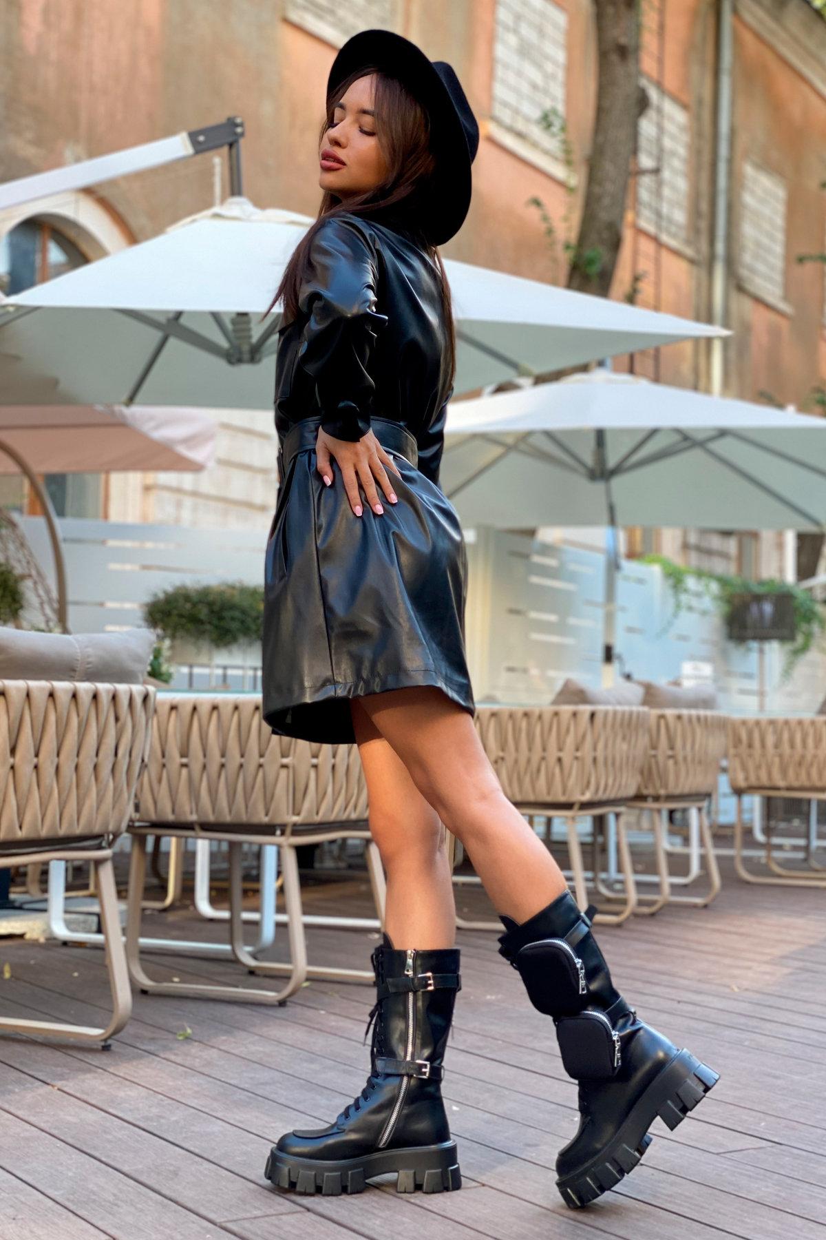 Платье-рубашка Амиго 8075 АРТ. 45995 Цвет: Черный - фото 6, интернет магазин tm-modus.ru