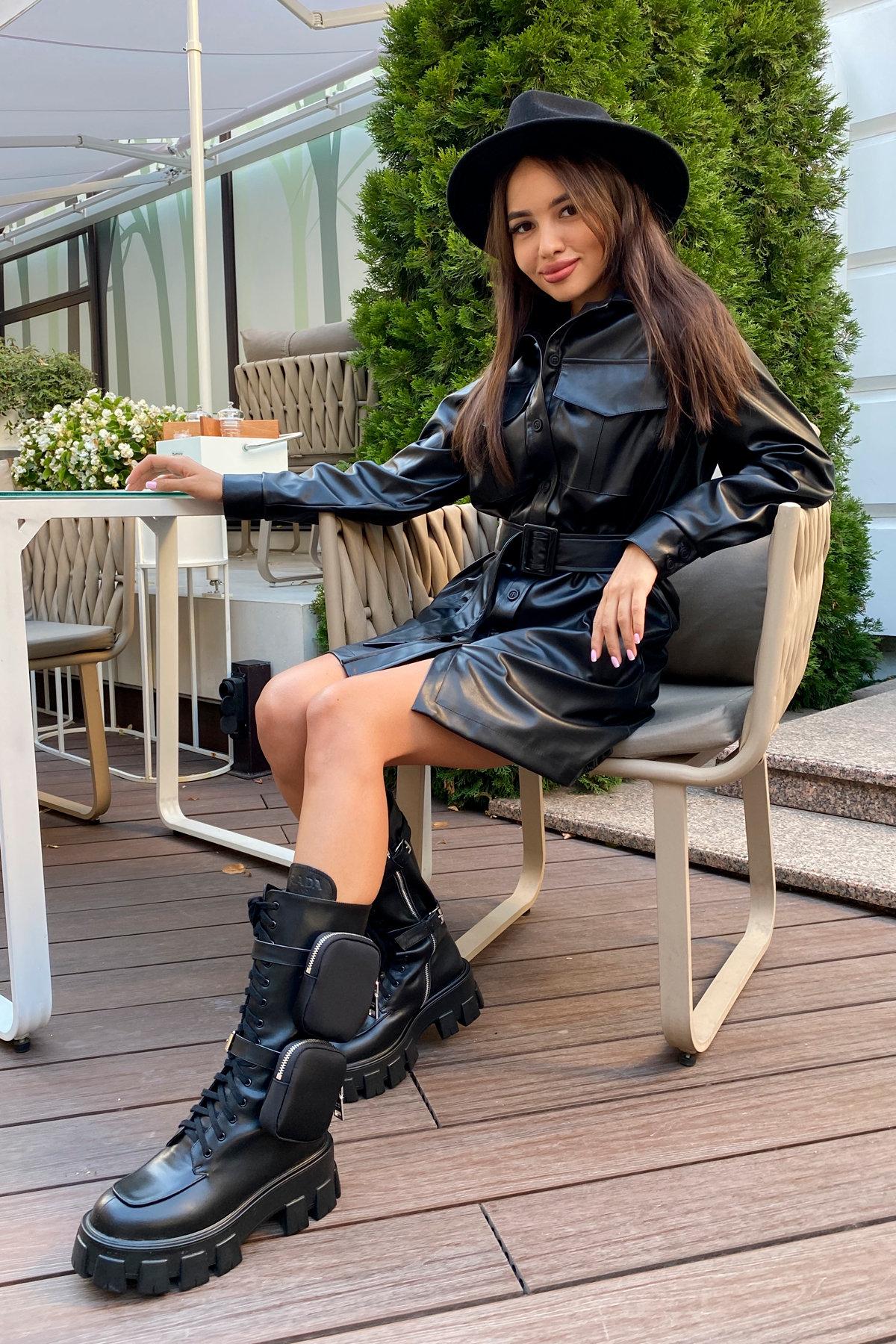 Платье-рубашка Амиго 8075 АРТ. 45995 Цвет: Черный - фото 10, интернет магазин tm-modus.ru