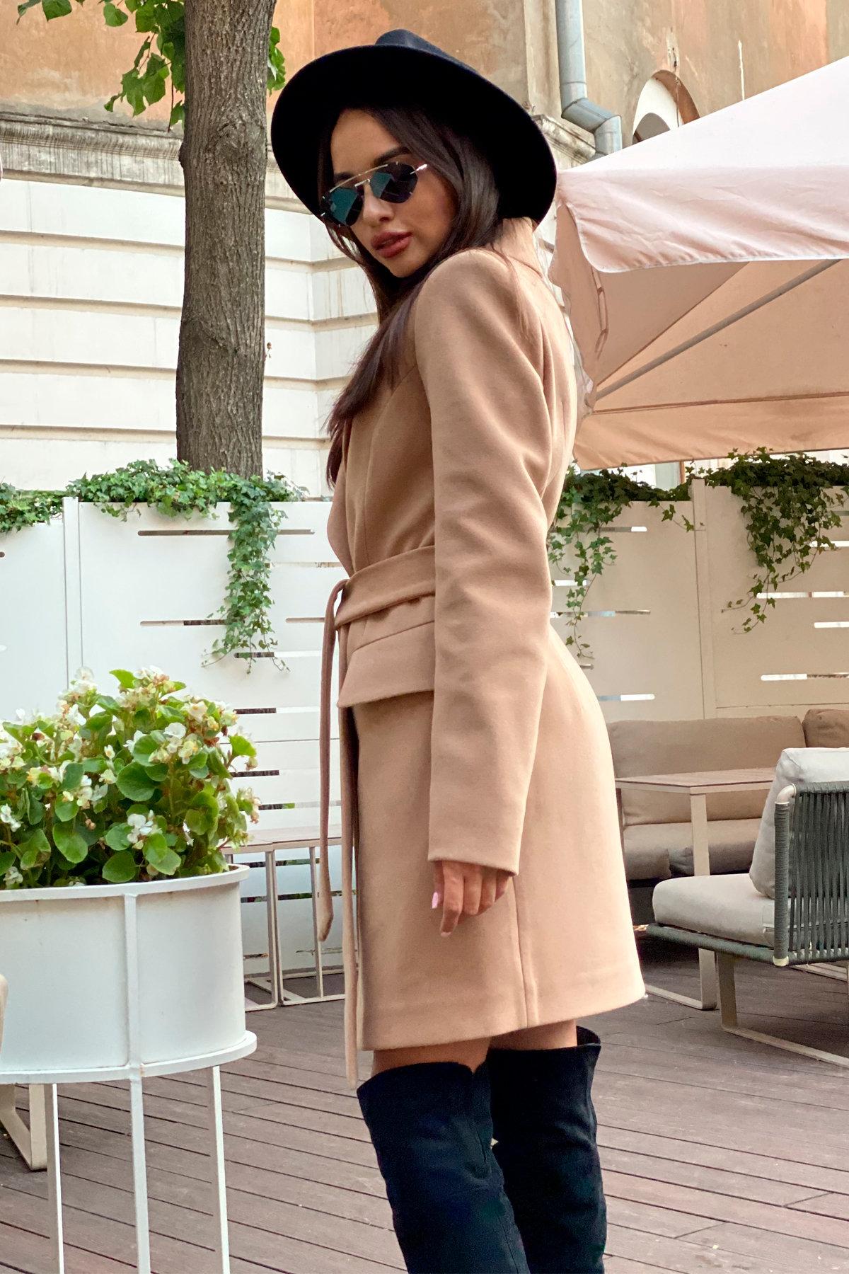 Корси пальтовая ткань кашемир турция пальто 9758 АРТ. 46054 Цвет: Кемел - фото 3, интернет магазин tm-modus.ru