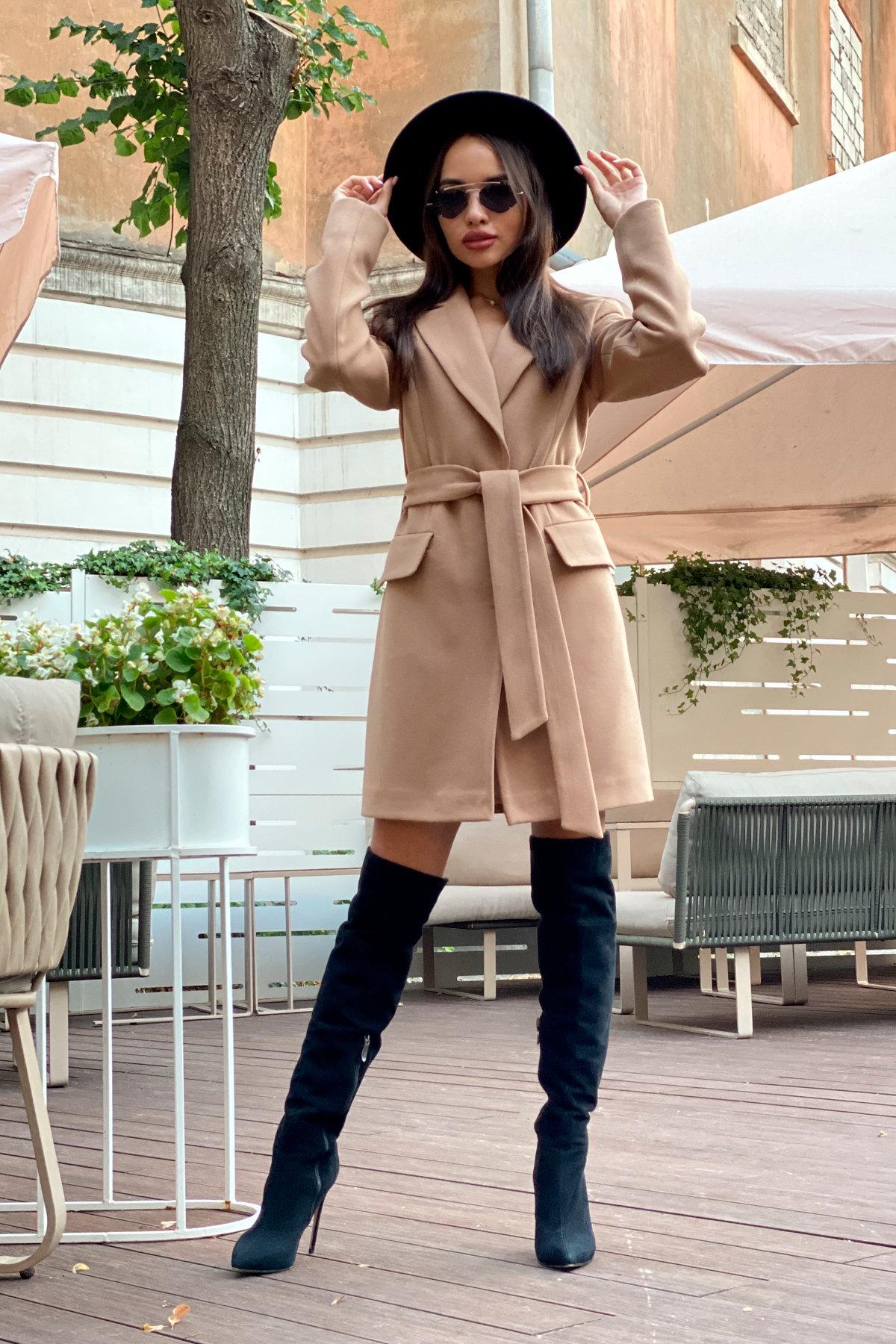 Корси пальтовая ткань кашемир турция пальто 9758 АРТ. 46054 Цвет: Кемел - фото 7, интернет магазин tm-modus.ru