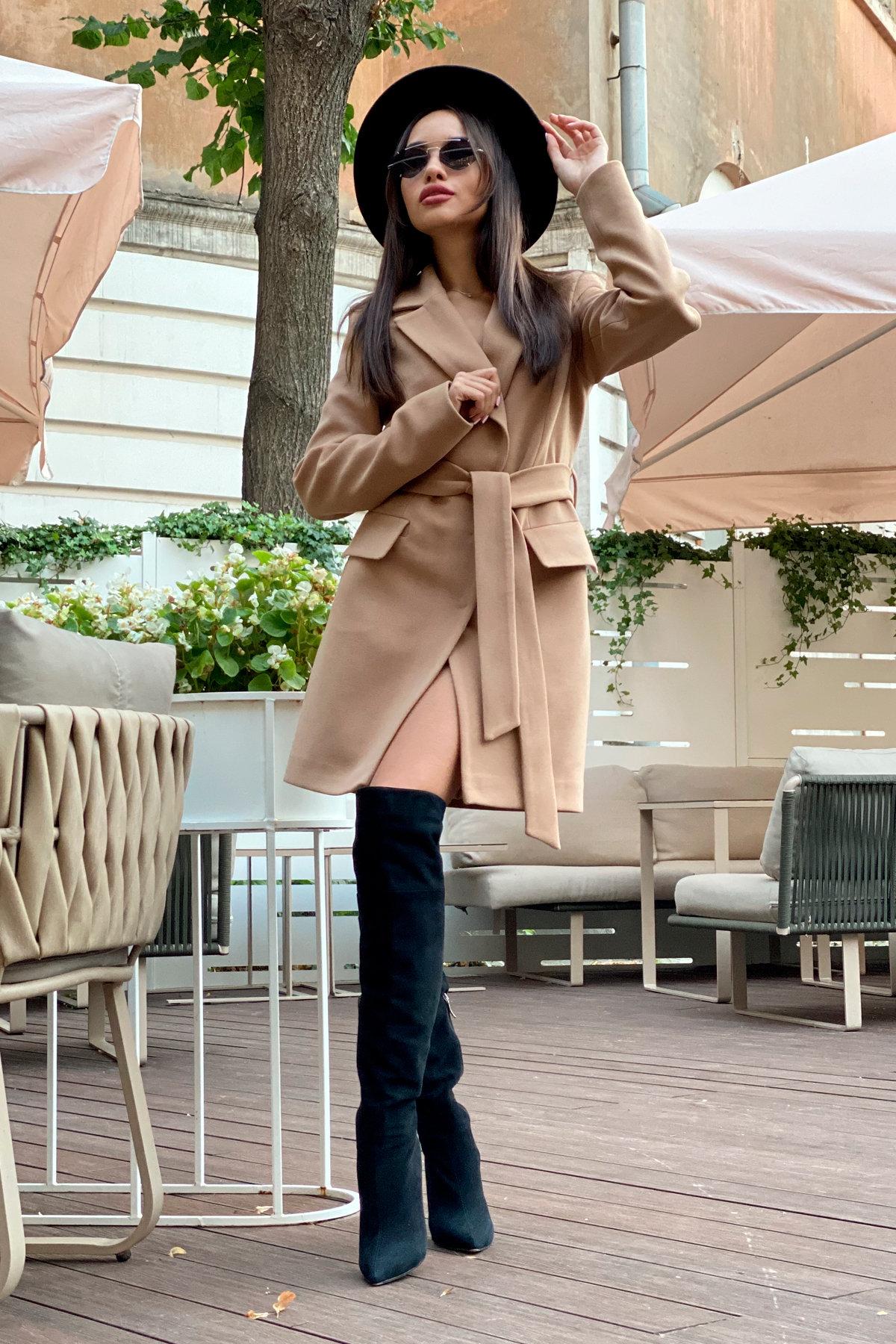 Корси пальтовая ткань кашемир турция пальто 9758 АРТ. 46054 Цвет: Кемел - фото 8, интернет магазин tm-modus.ru