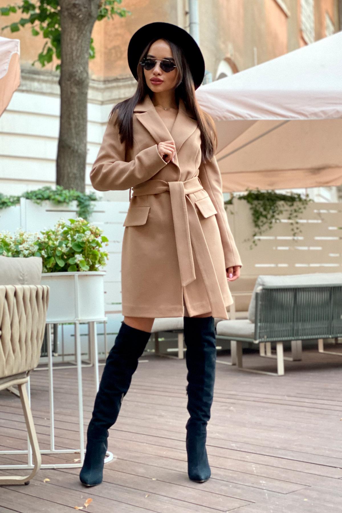 Корси пальтовая ткань кашемир турция пальто 9758 АРТ. 46054 Цвет: Кемел - фото 12, интернет магазин tm-modus.ru