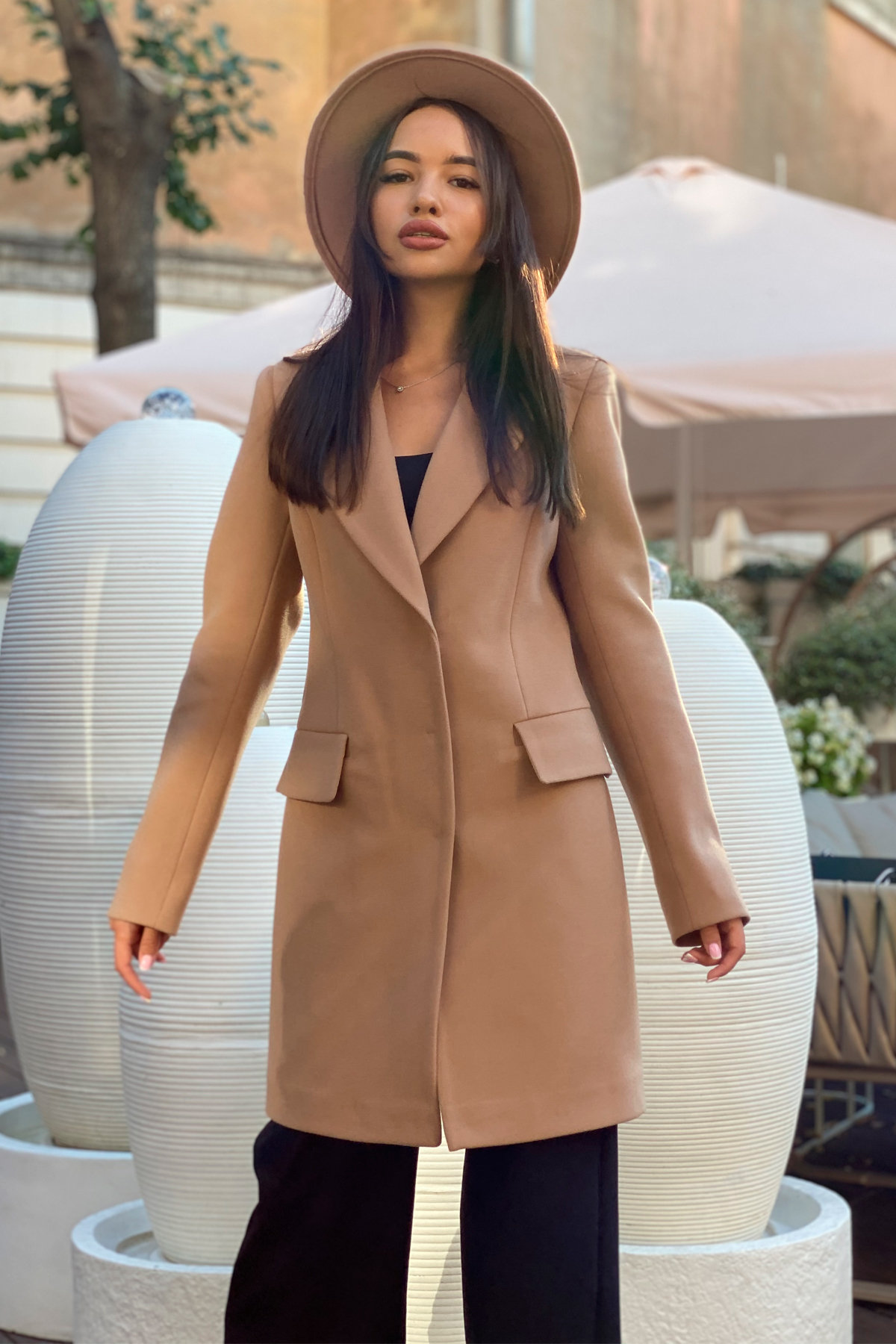 Корси пальтовая ткань кашемир турция пальто 9758 АРТ. 46054 Цвет: Кемел - фото 15, интернет магазин tm-modus.ru