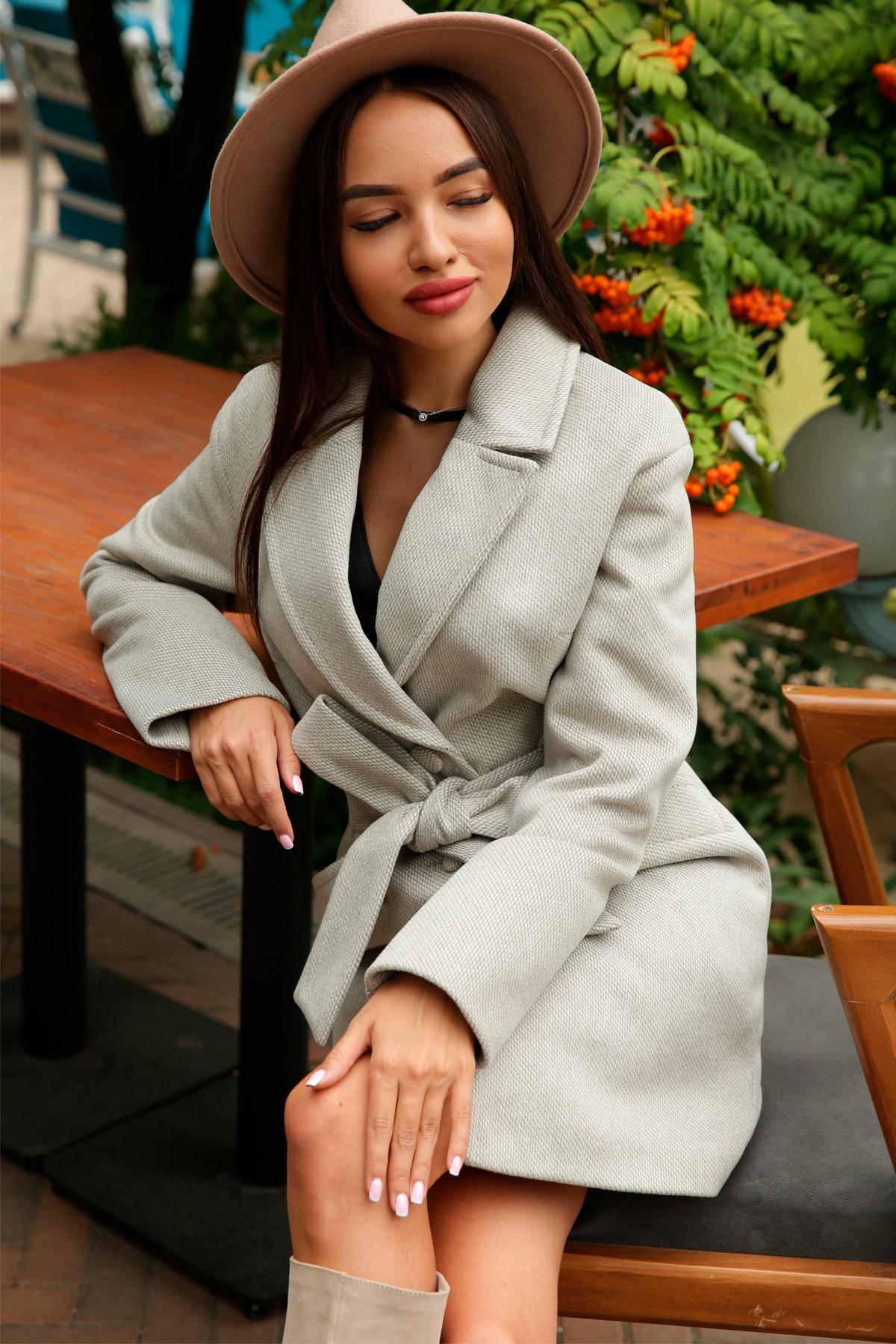 Кашемировое пальто Вейсона 8803 АРТ. 45175 Цвет: Олива - фото 1, интернет магазин tm-modus.ru