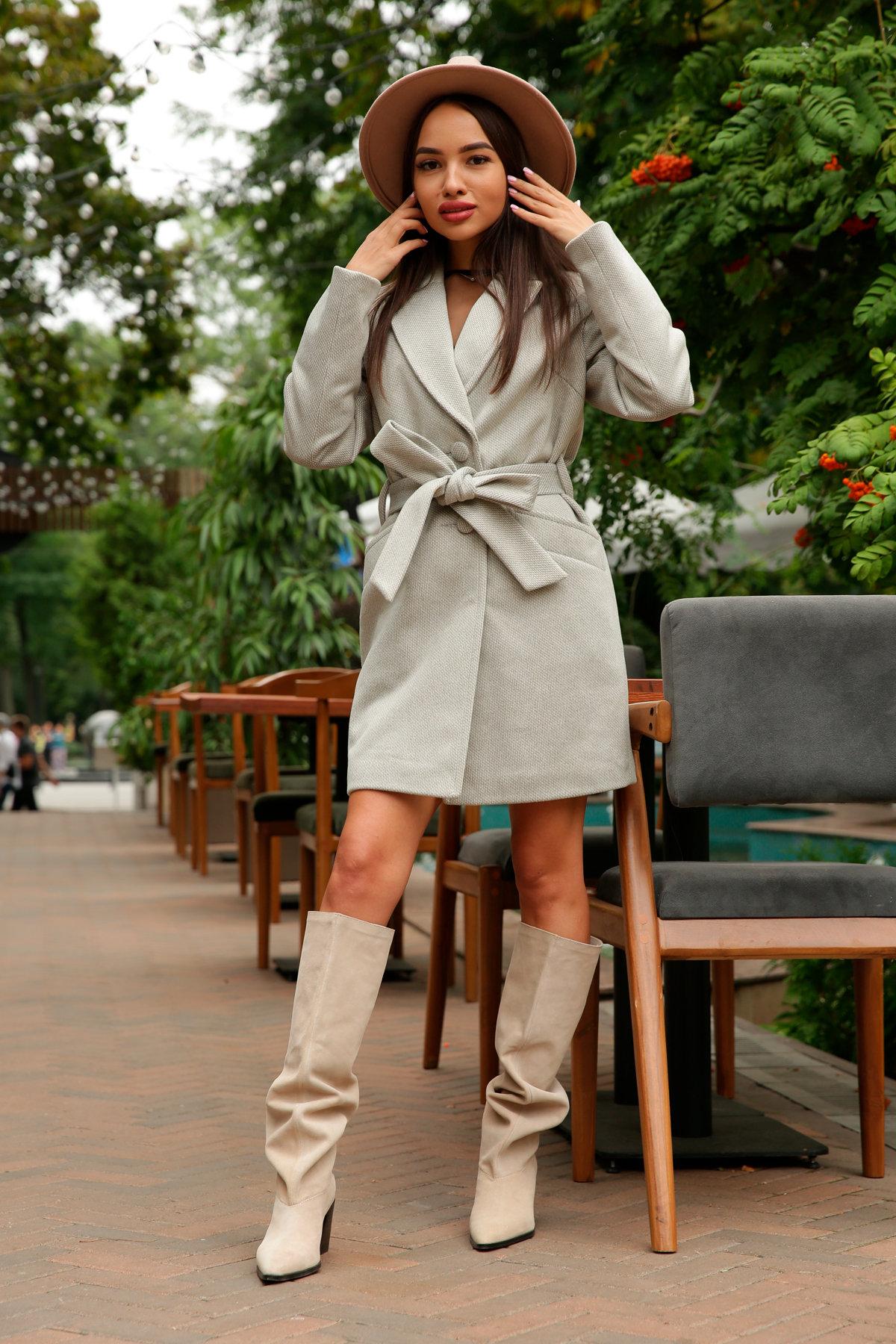 Кашемировое пальто Вейсона 8803 АРТ. 45175 Цвет: Олива - фото 5, интернет магазин tm-modus.ru