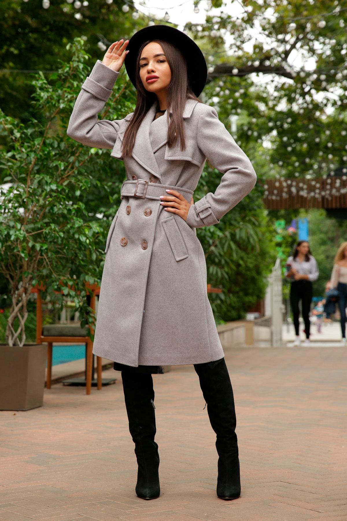 Двубортное пальто демисезон Монте 8089 АРТ. 44031 Цвет: Серый-розовый - фото 2, интернет магазин tm-modus.ru