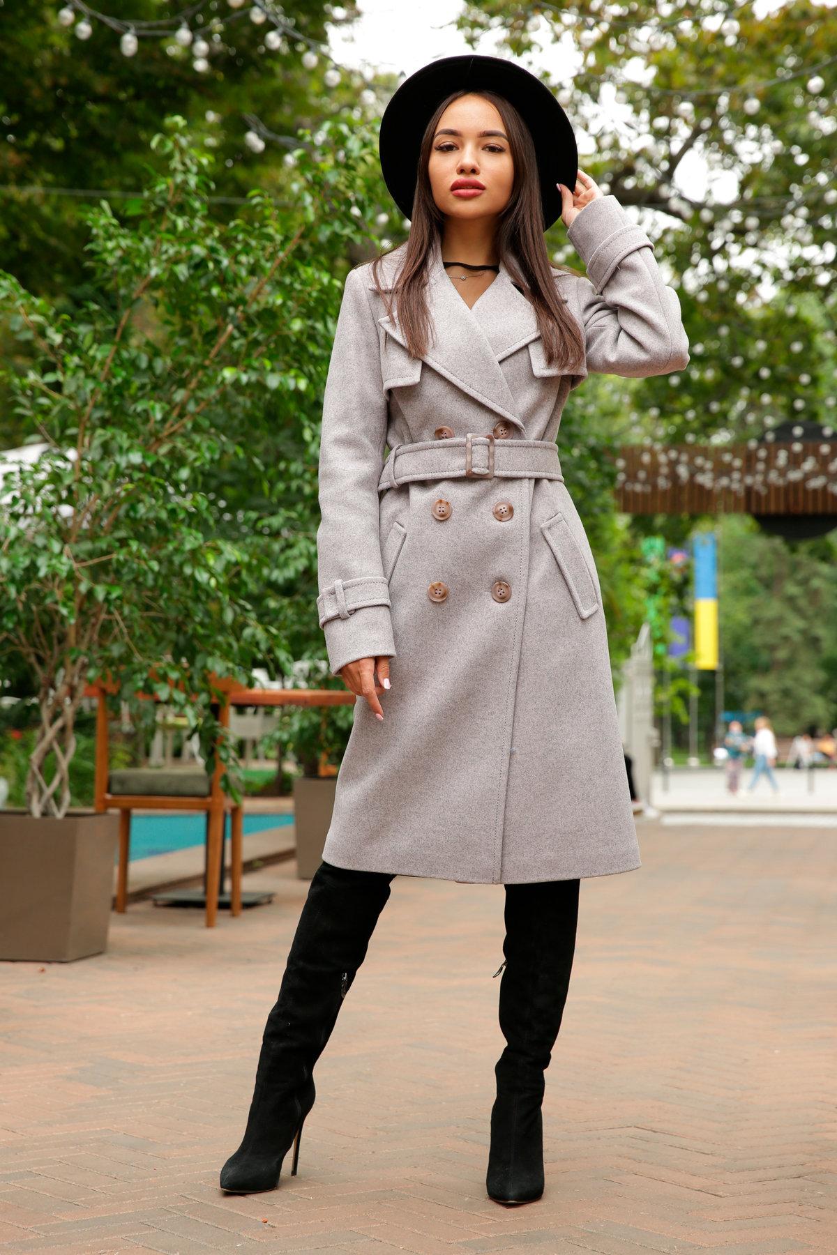Двубортное пальто демисезон Монте 8089 АРТ. 44031 Цвет: Серый-розовый - фото 5, интернет магазин tm-modus.ru