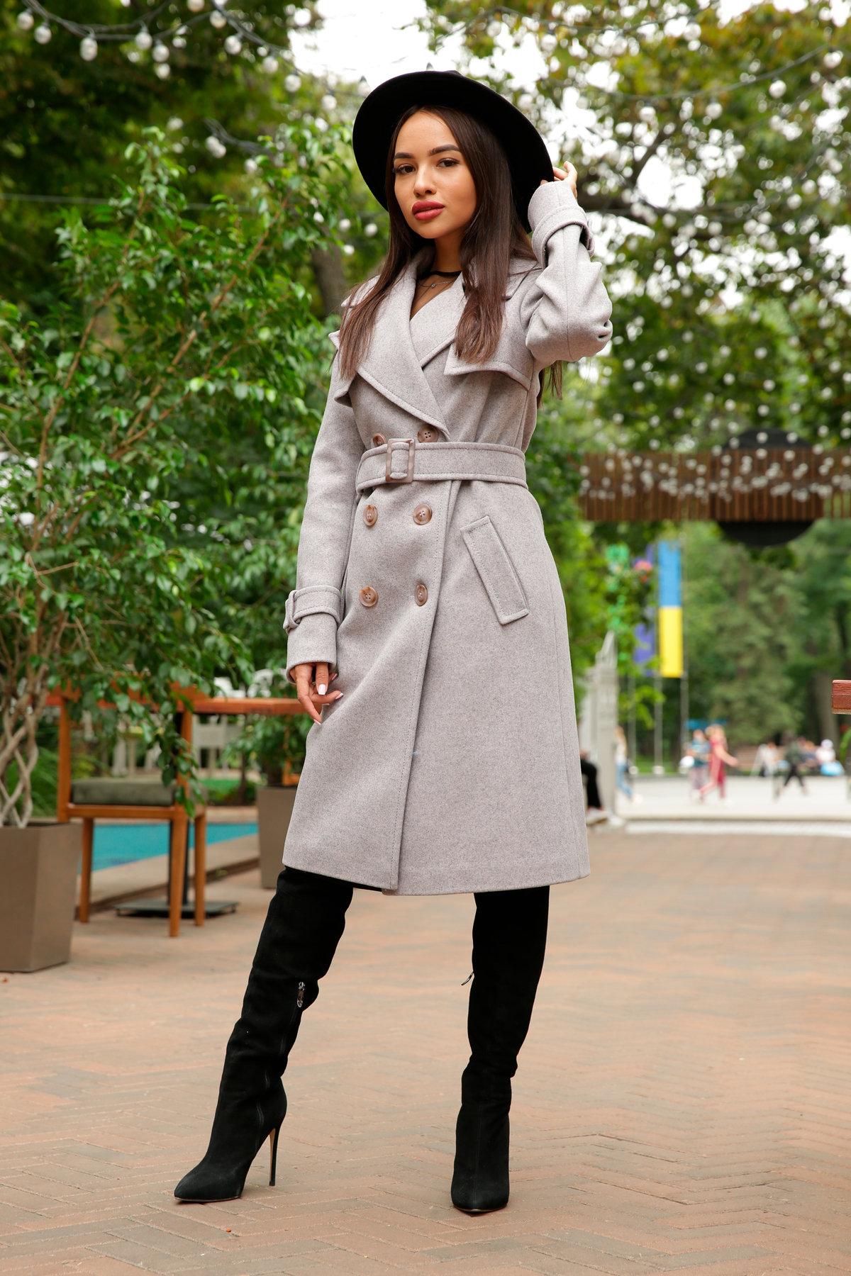 Двубортное пальто демисезон Монте 8089 АРТ. 44031 Цвет: Серый-розовый - фото 7, интернет магазин tm-modus.ru