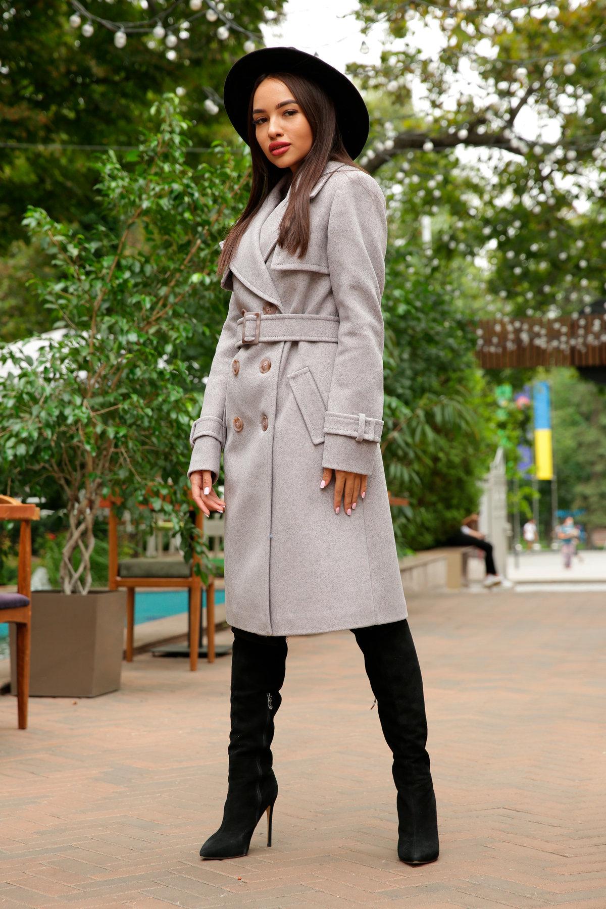 Двубортное пальто демисезон Монте 8089 АРТ. 44031 Цвет: Серый-розовый - фото 9, интернет магазин tm-modus.ru