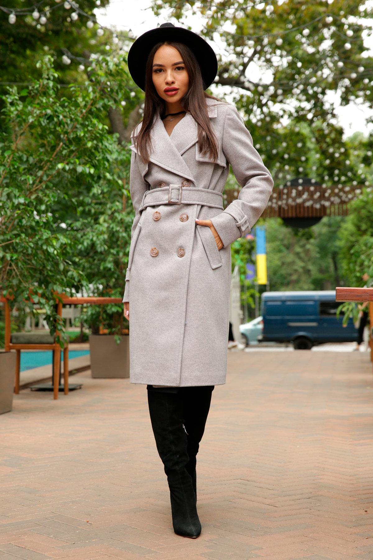 Двубортное пальто демисезон Монте 8089 АРТ. 44031 Цвет: Серый-розовый - фото 11, интернет магазин tm-modus.ru