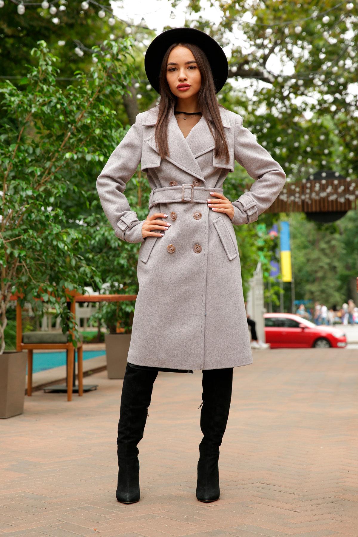 Двубортное пальто демисезон Монте 8089 АРТ. 44031 Цвет: Серый-розовый - фото 12, интернет магазин tm-modus.ru
