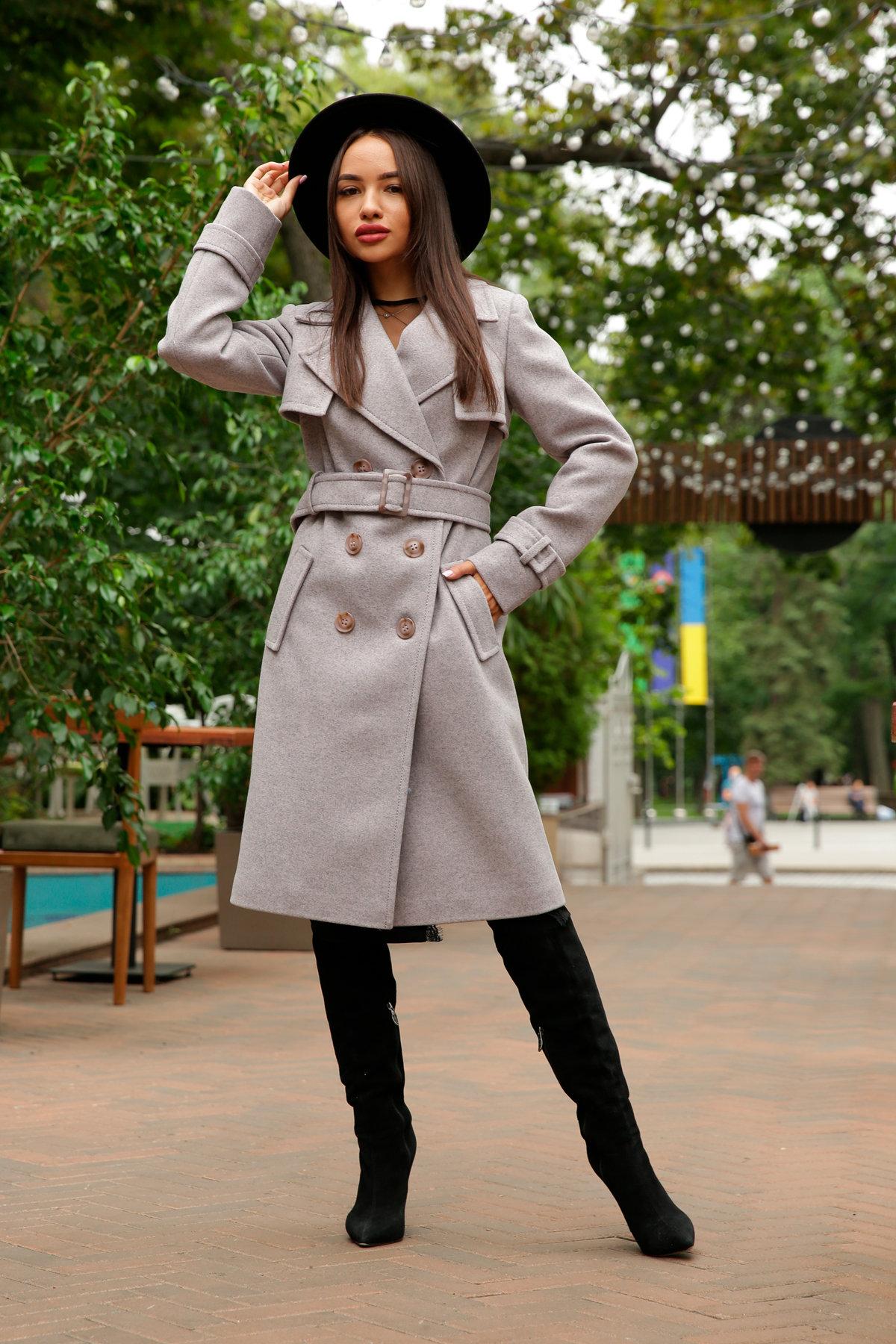 Двубортное пальто демисезон Монте 8089 АРТ. 44031 Цвет: Серый-розовый - фото 13, интернет магазин tm-modus.ru