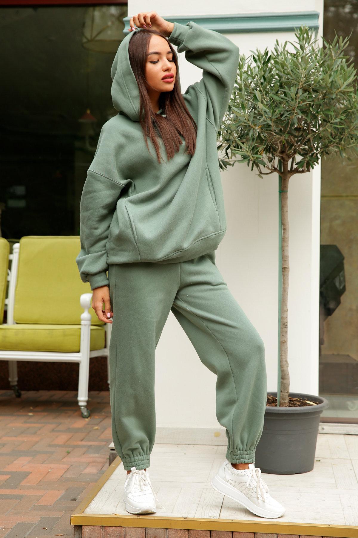 Марион костюм в  стиле Oversize  3х нитка 9651 АРТ. 46056 Цвет: Олива Темная - фото 5, интернет магазин tm-modus.ru