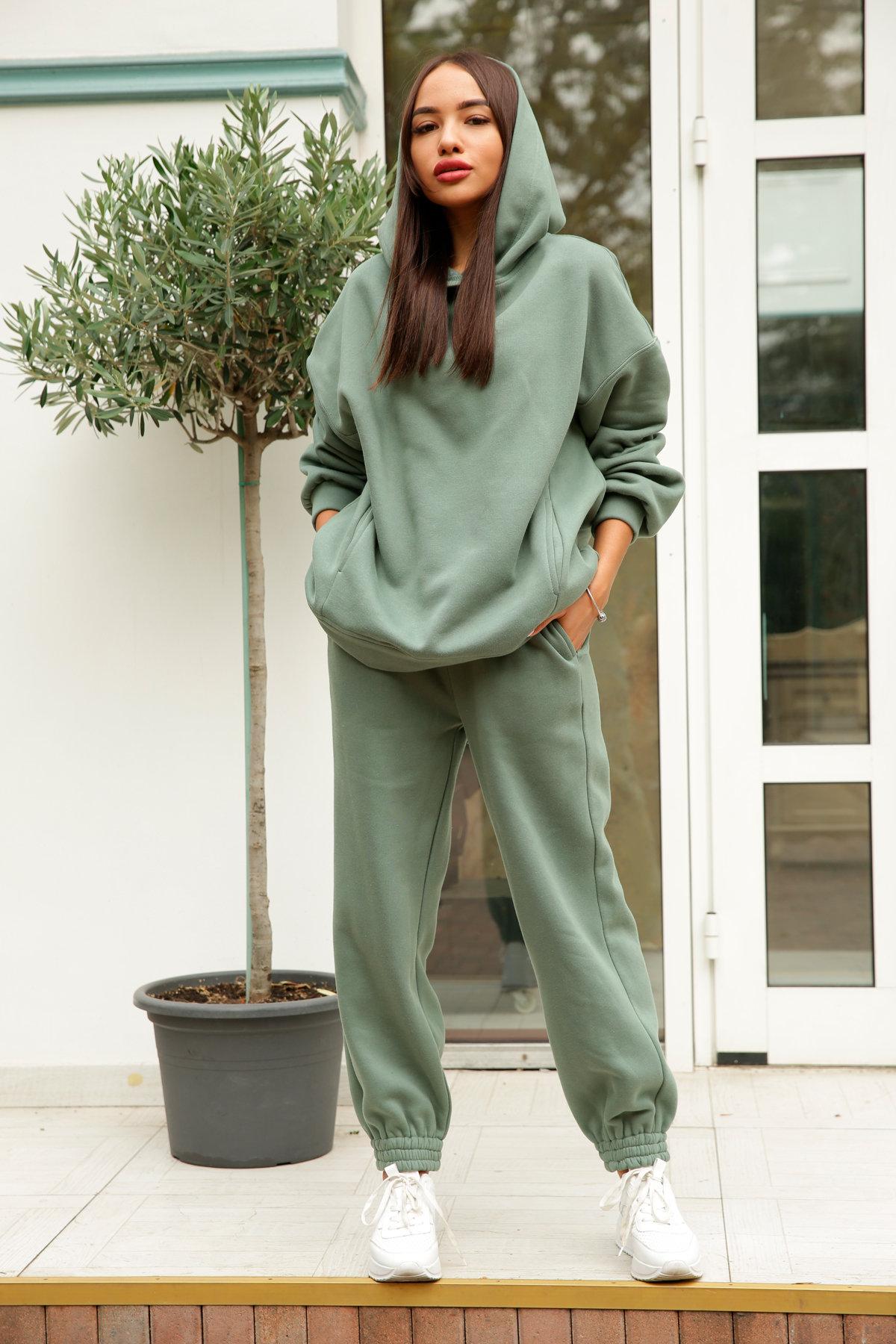 Марион костюм в  стиле Oversize  3х нитка 9651 АРТ. 46056 Цвет: Олива Темная - фото 6, интернет магазин tm-modus.ru
