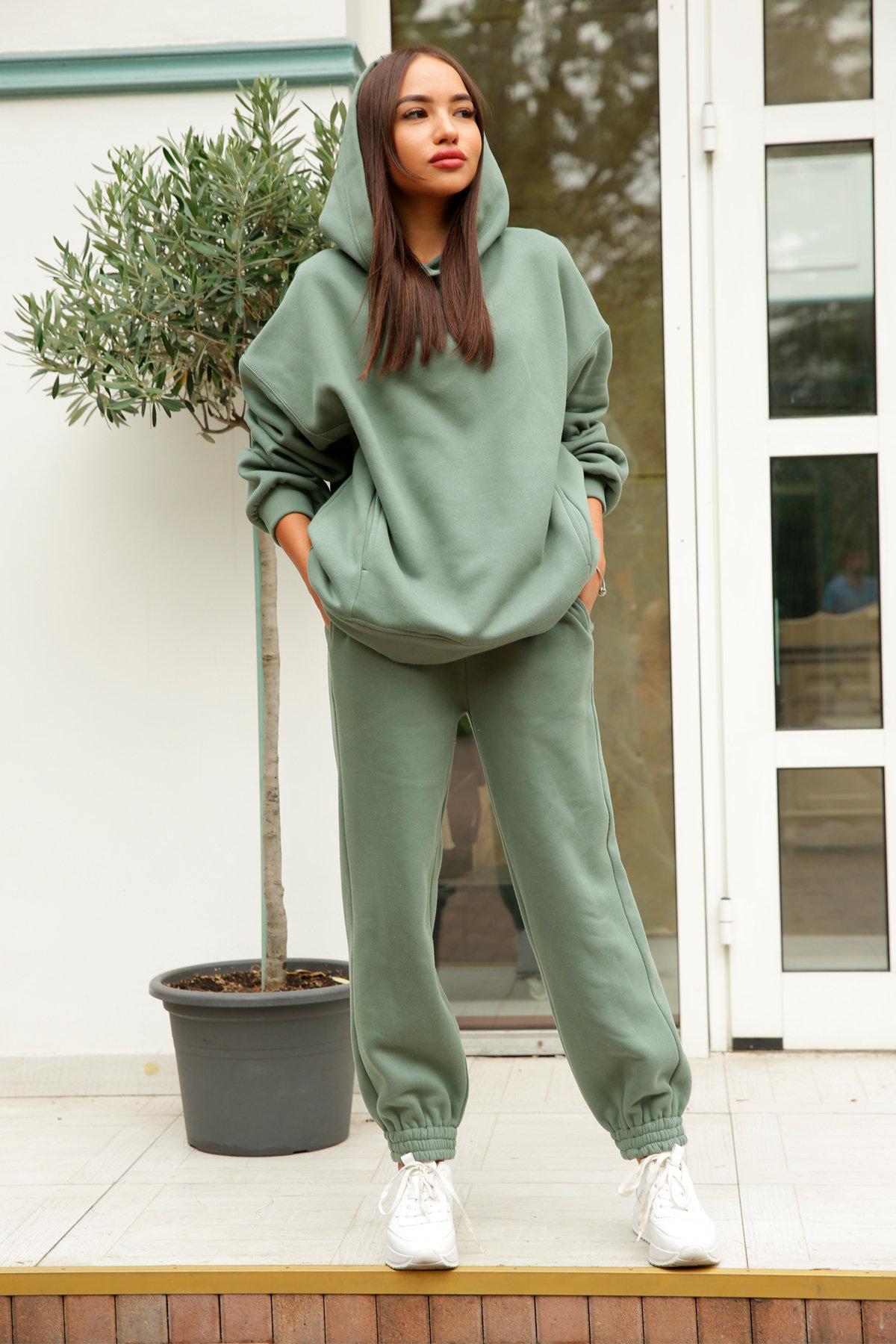 Марион костюм в  стиле Oversize  3х нитка 9651 АРТ. 46056 Цвет: Олива Темная - фото 7, интернет магазин tm-modus.ru