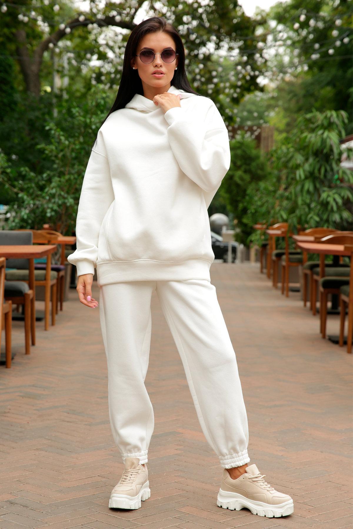 Марион костюм в  стиле Oversize  3х нитка 9651 АРТ. 46045 Цвет: Молоко - фото 3, интернет магазин tm-modus.ru