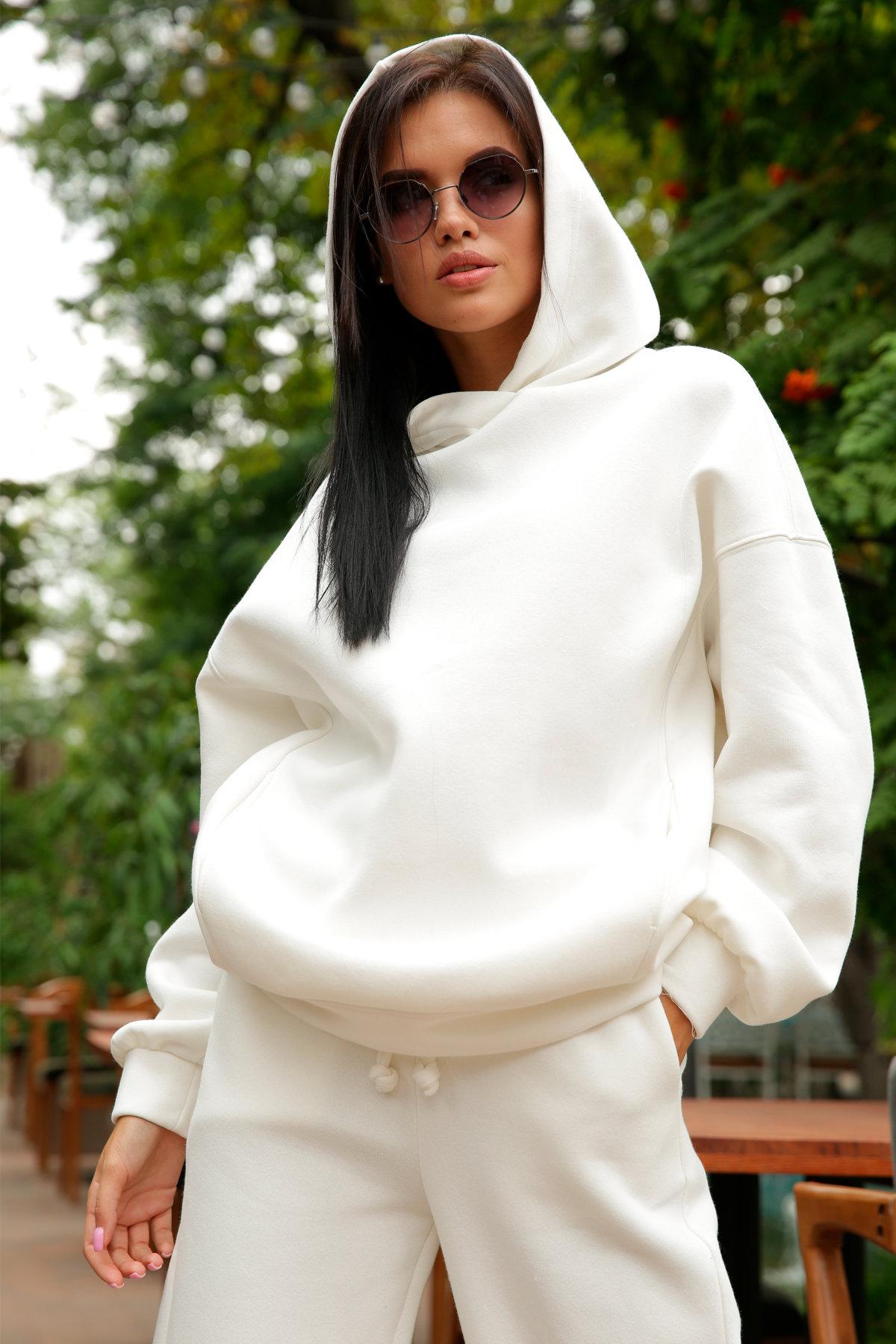 Марион костюм в  стиле Oversize  3х нитка 9651 АРТ. 46045 Цвет: Молоко - фото 10, интернет магазин tm-modus.ru