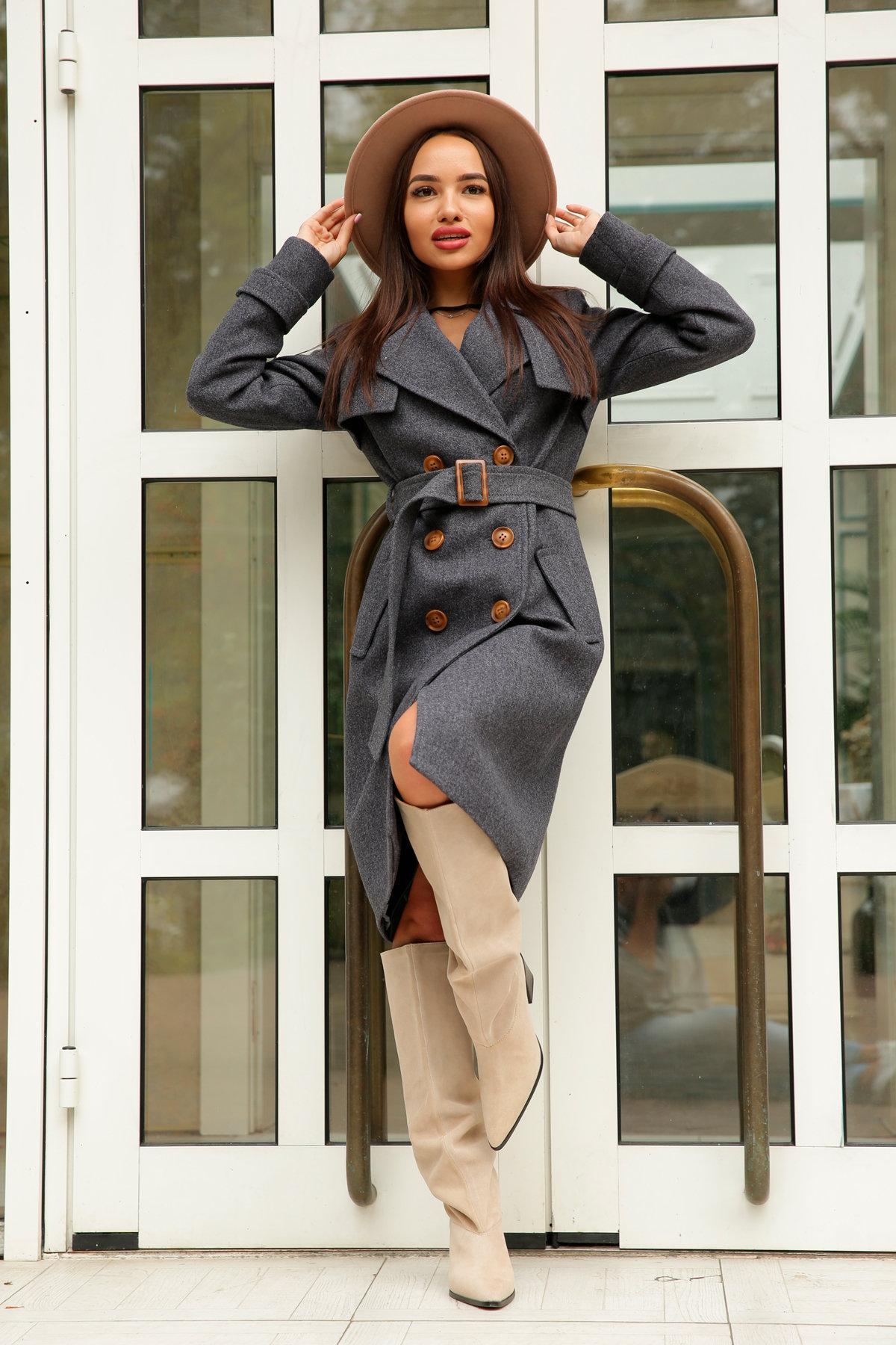 Двубортное пальто демисезон Монте 8089 АРТ. 44032 Цвет: т. синий 543 - фото 2, интернет магазин tm-modus.ru