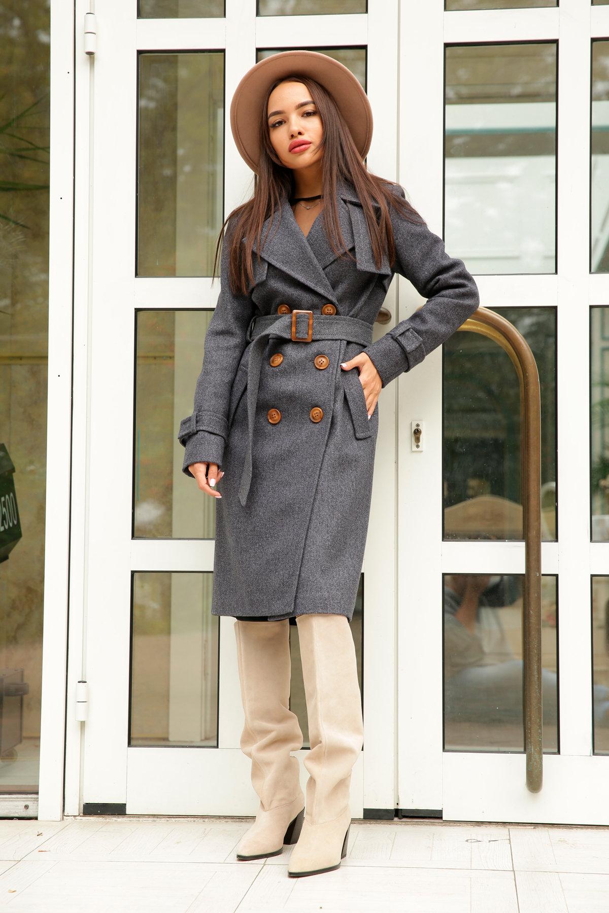 Двубортное пальто демисезон Монте 8089 АРТ. 44032 Цвет: т. синий 543 - фото 3, интернет магазин tm-modus.ru
