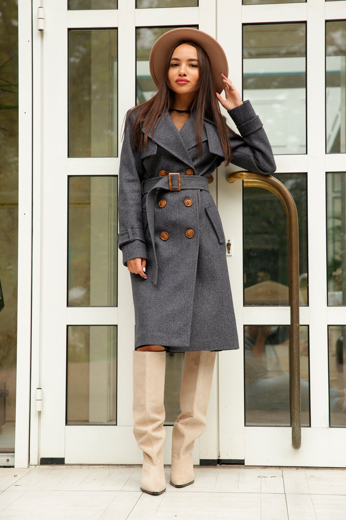 Двубортное пальто демисезон Монте 8089 АРТ. 44032 Цвет: т. синий 543 - фото 5, интернет магазин tm-modus.ru