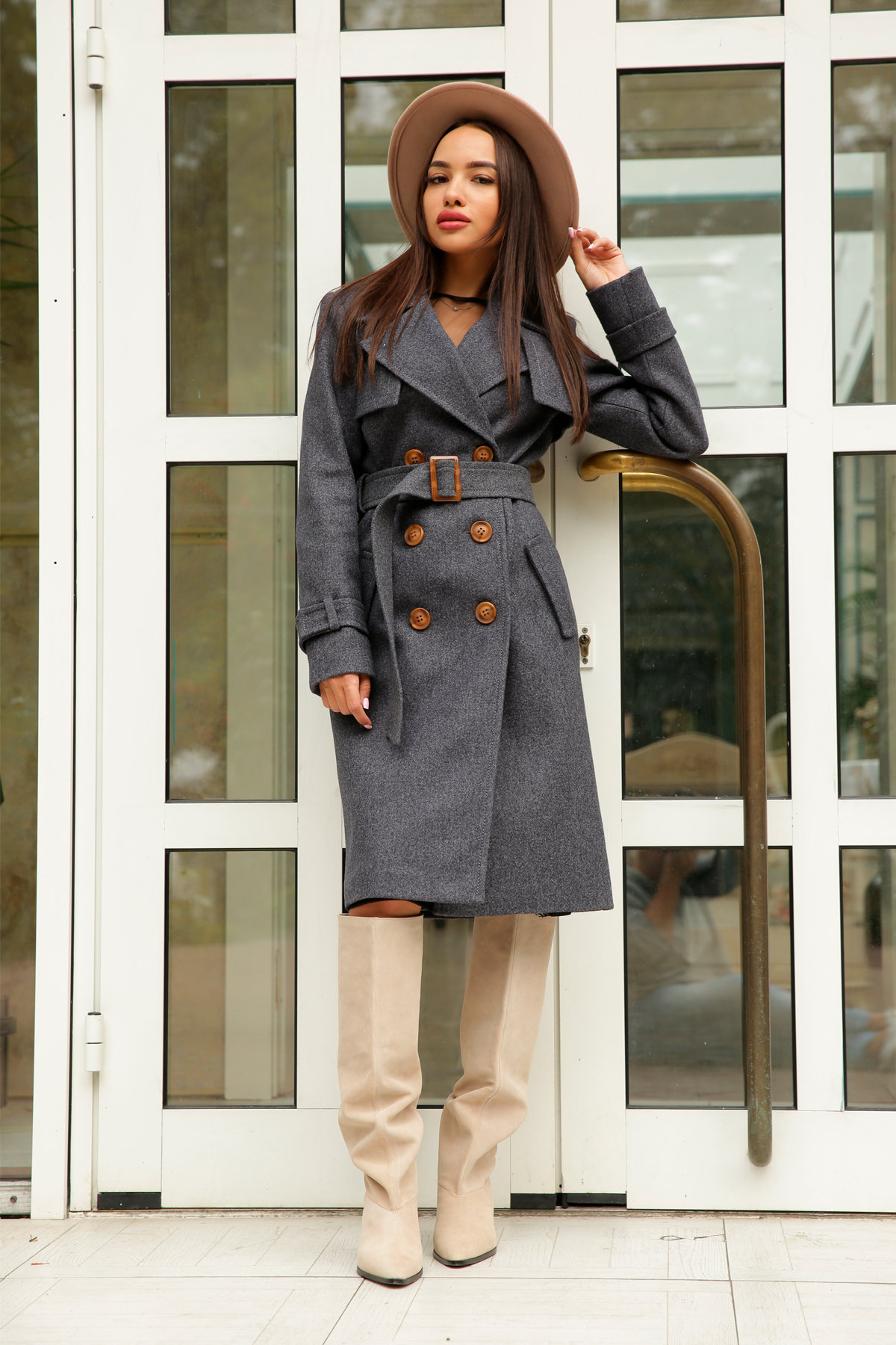 Двубортное пальто демисезон Монте 8089 АРТ. 44032 Цвет: т. синий 543 - фото 7, интернет магазин tm-modus.ru