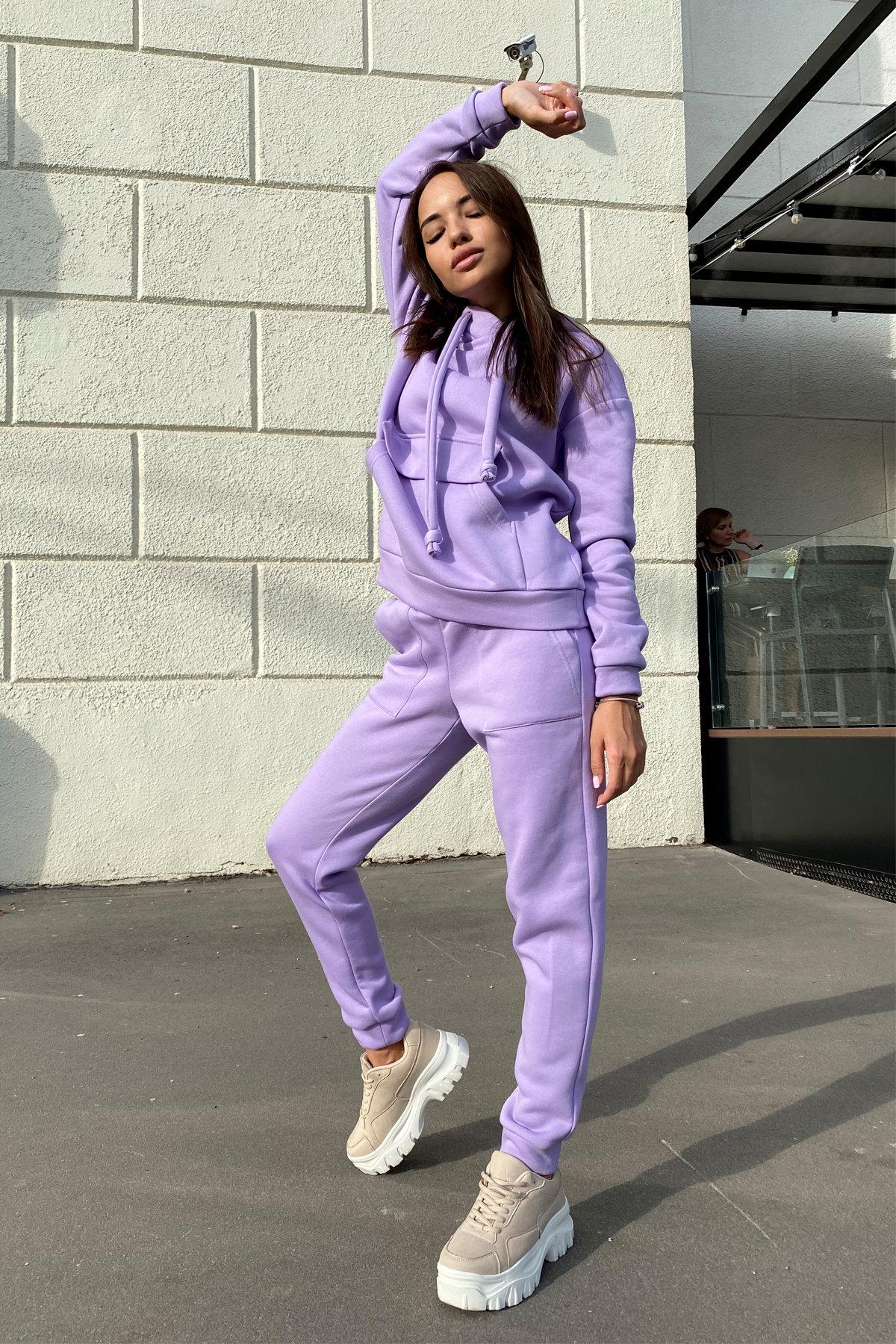 Бруклин  прогулочный костюм 3х нитка с начесом  9663 АРТ. 46097 Цвет: лаванда светлая - фото 3, интернет магазин tm-modus.ru