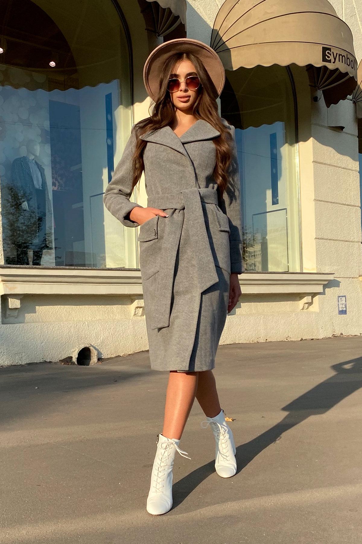 Зимнее пальто с мехом Стейси 5647 АРТ. 37855 Цвет: Серый 18 - фото 2, интернет магазин tm-modus.ru