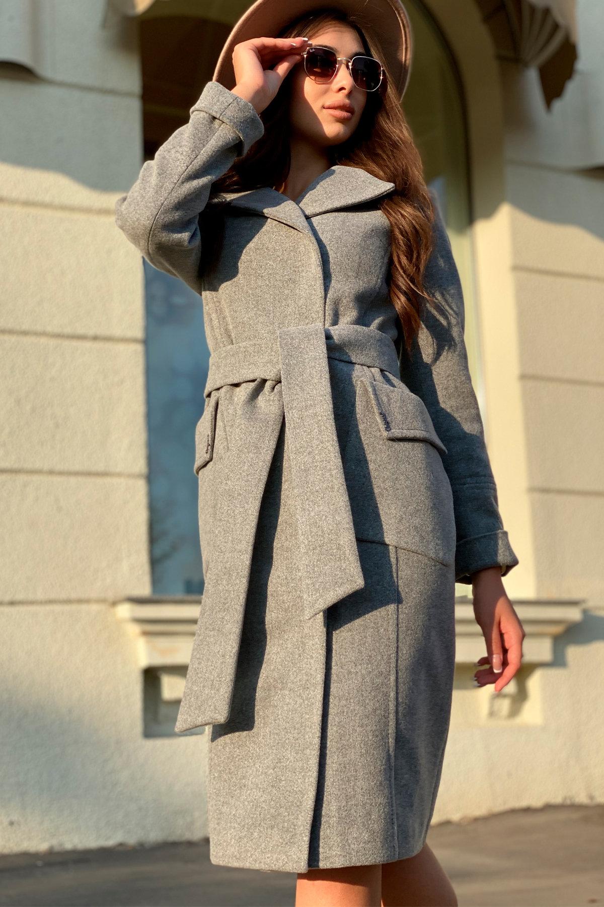 Зимнее пальто с мехом Стейси 5647 АРТ. 37855 Цвет: Серый 18 - фото 4, интернет магазин tm-modus.ru