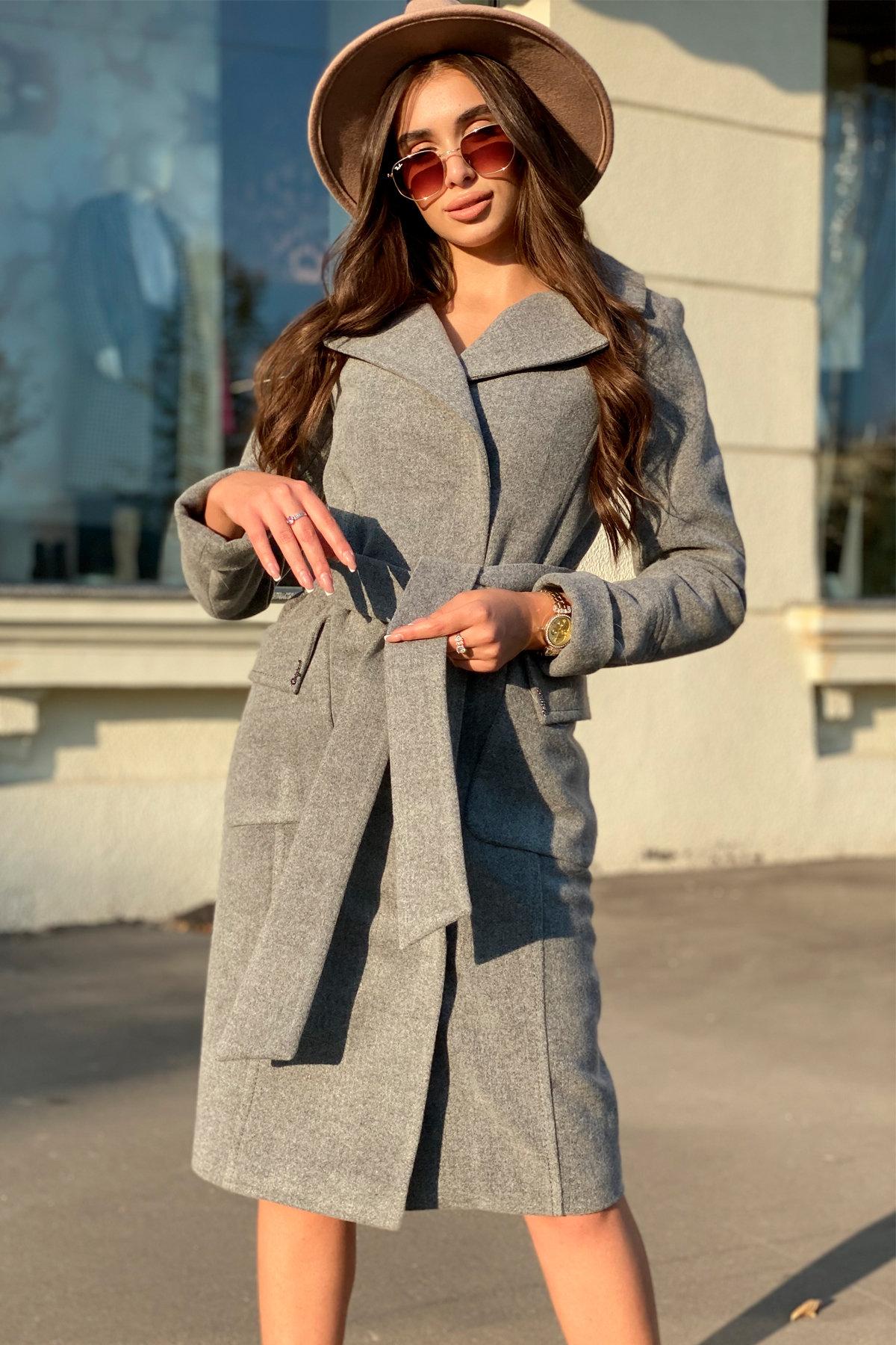 Зимнее пальто с чернобуркой Стейси 5647 Цвет: Серый 18