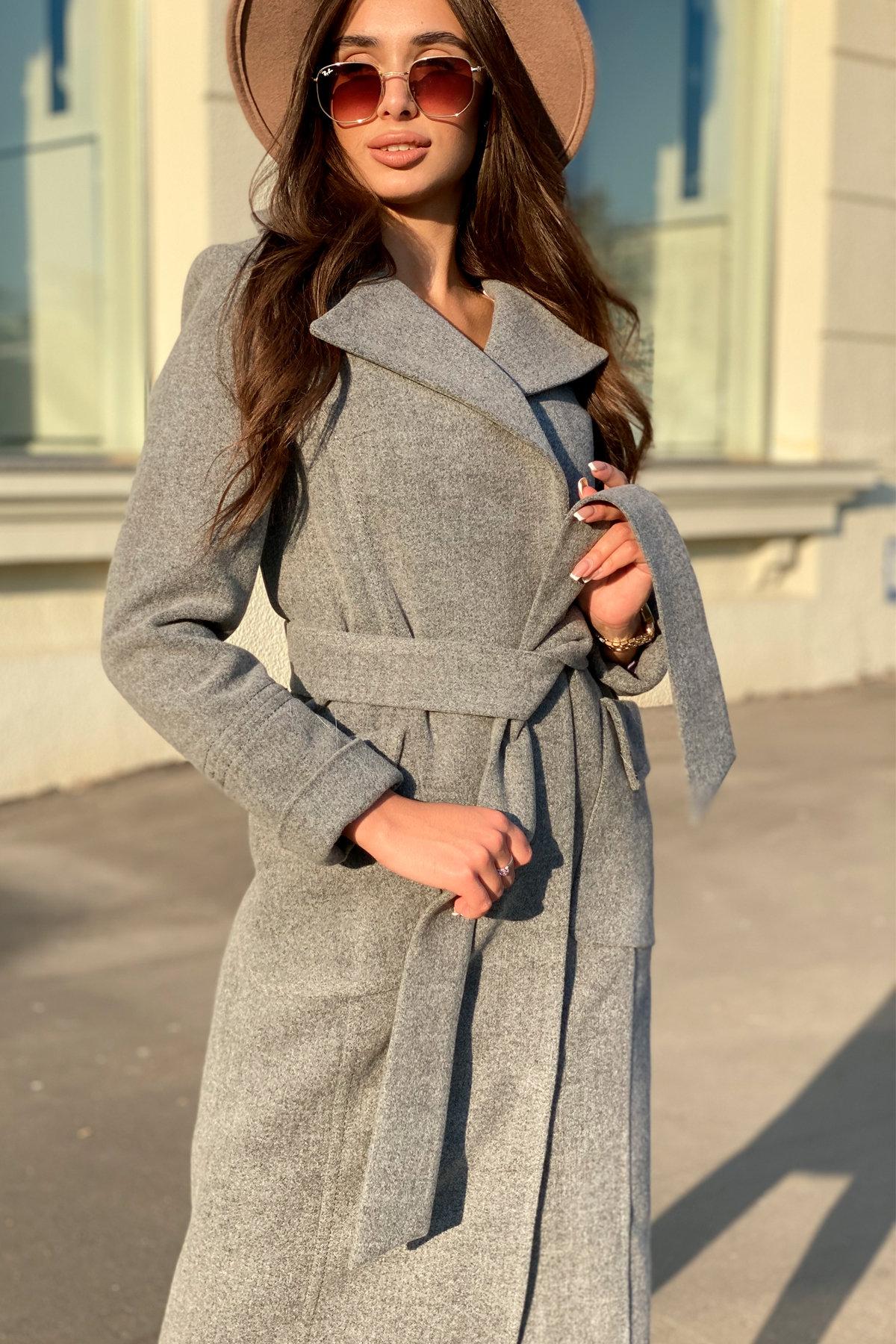 Зимнее пальто с мехом Стейси 5647 АРТ. 37855 Цвет: Серый 18 - фото 8, интернет магазин tm-modus.ru