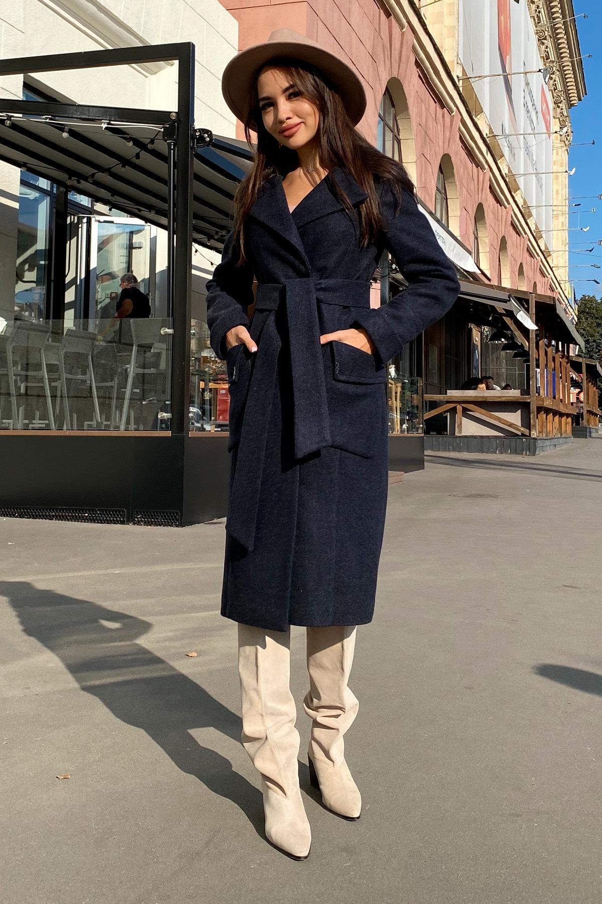 Пальто Стейси 5471 АРТ. 36685 Цвет: Темно-синий - фото 1, интернет магазин tm-modus.ru