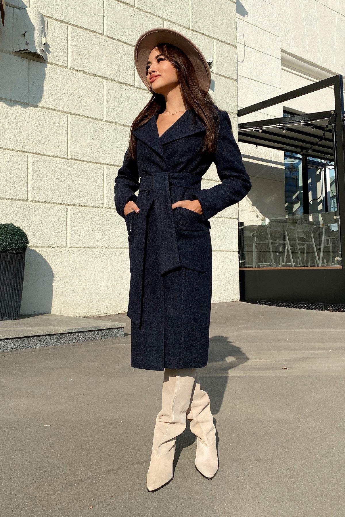 Пальто Стейси 5471 АРТ. 36685 Цвет: Темно-синий - фото 3, интернет магазин tm-modus.ru