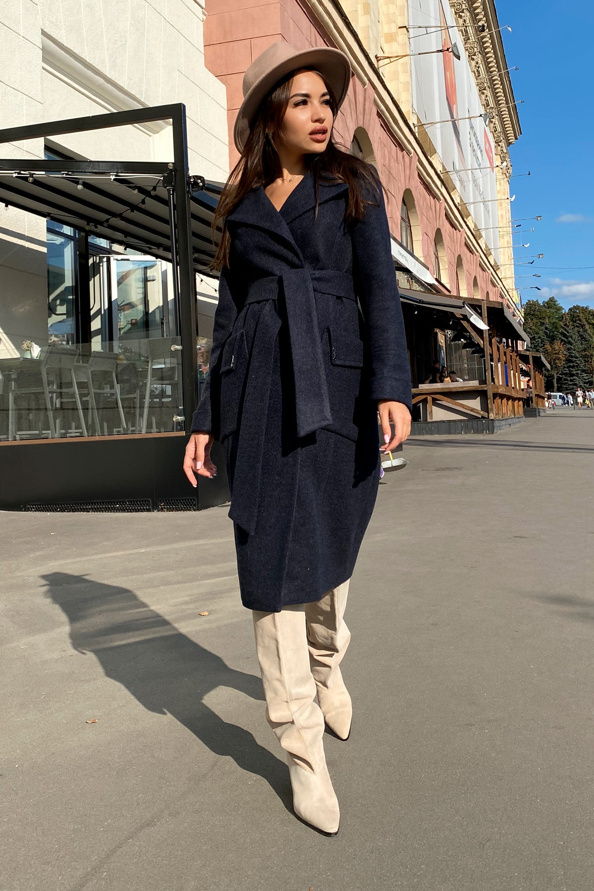 Пальто Стейси 5471 АРТ. 36685 Цвет: Темно-синий - фото 4, интернет магазин tm-modus.ru