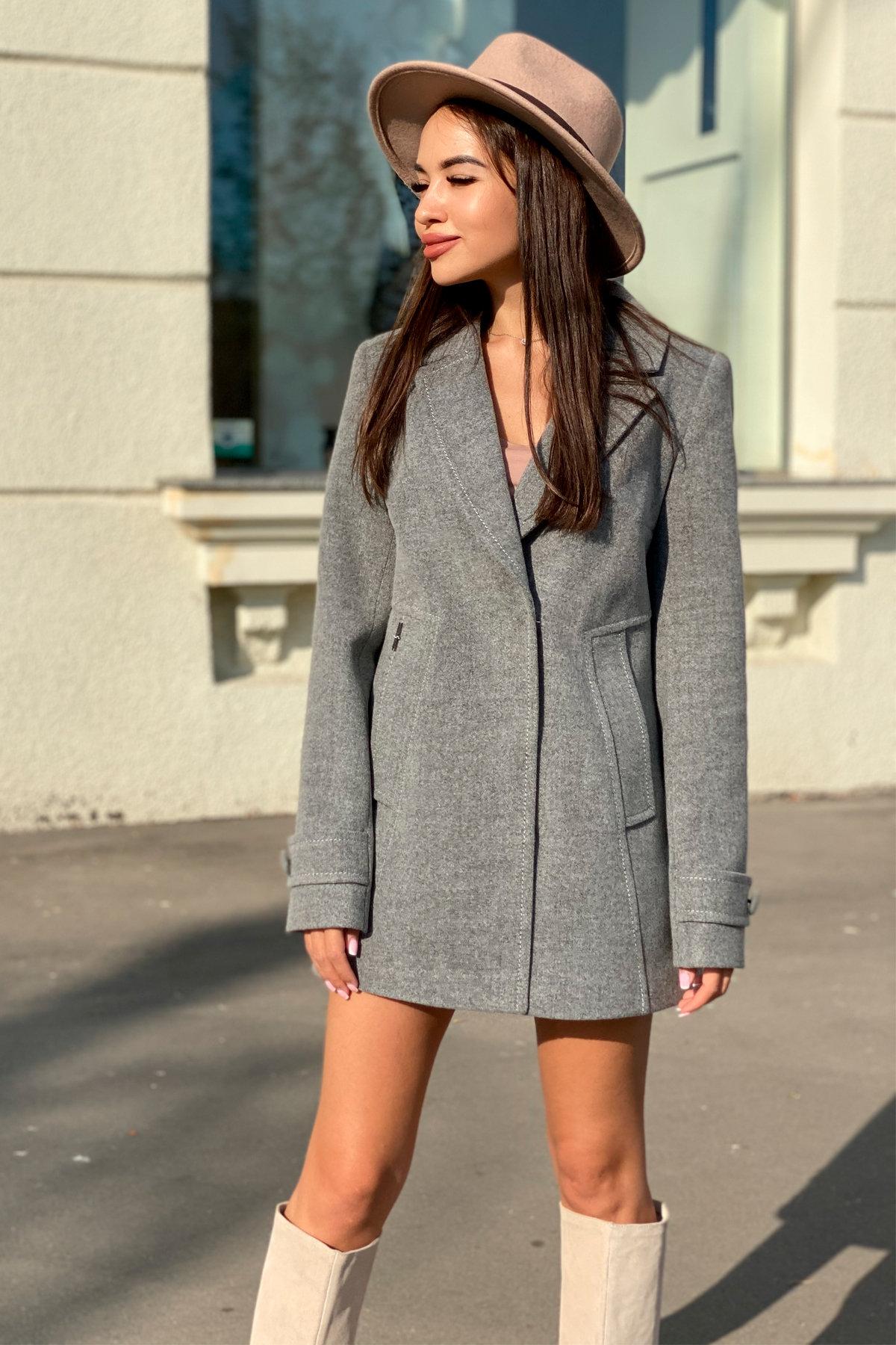 Пальто Смарта 6395 АРТ. 41427 Цвет: Серый 18 - фото 1, интернет магазин tm-modus.ru